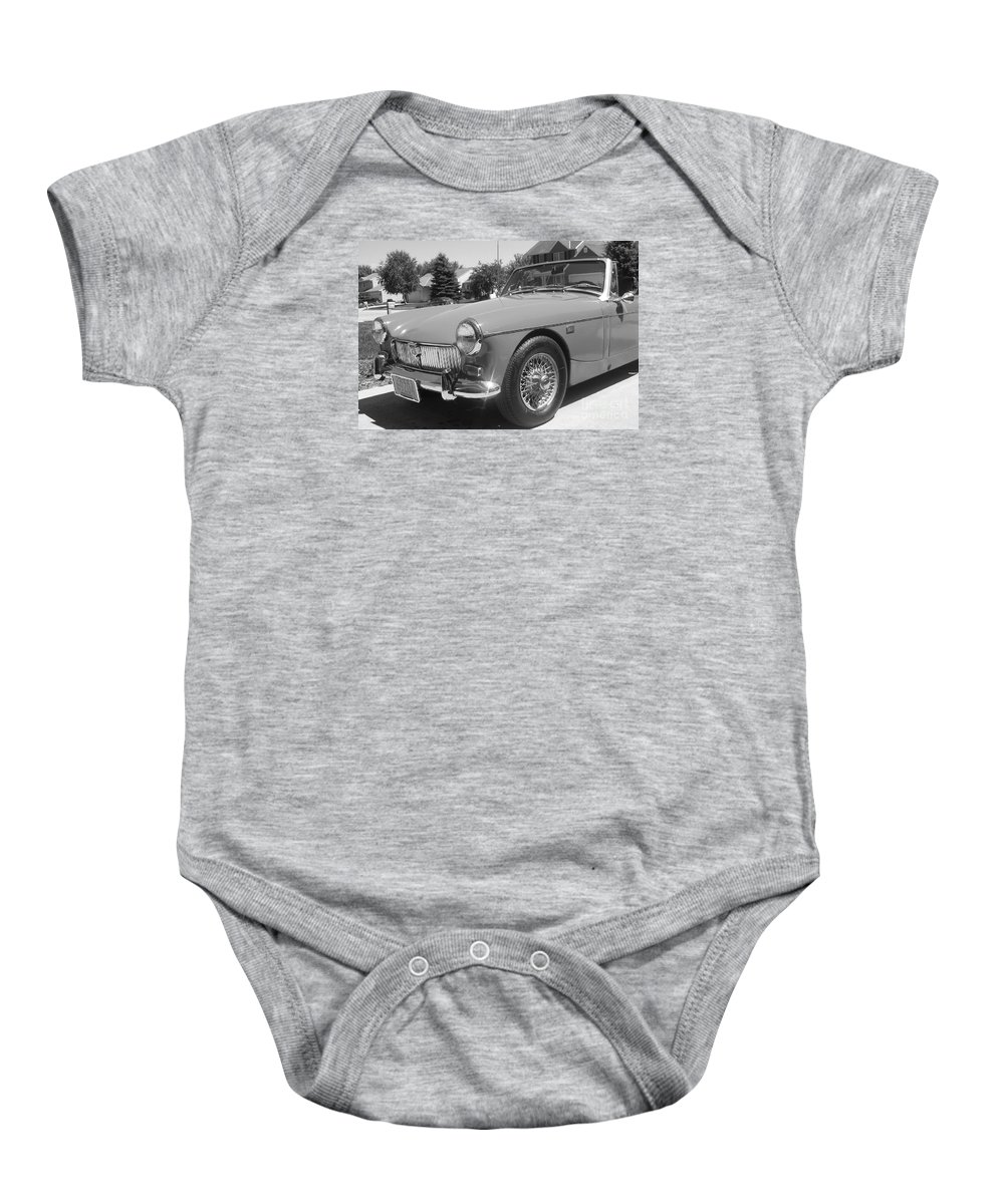 Mg Baby Onesie featuring the photograph Mg Midget by Neil Zimmerman
