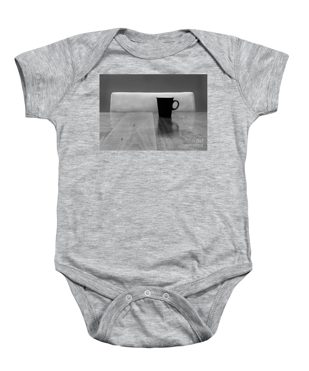 Black Baby Onesie featuring the photograph Missing by Dana DiPasquale