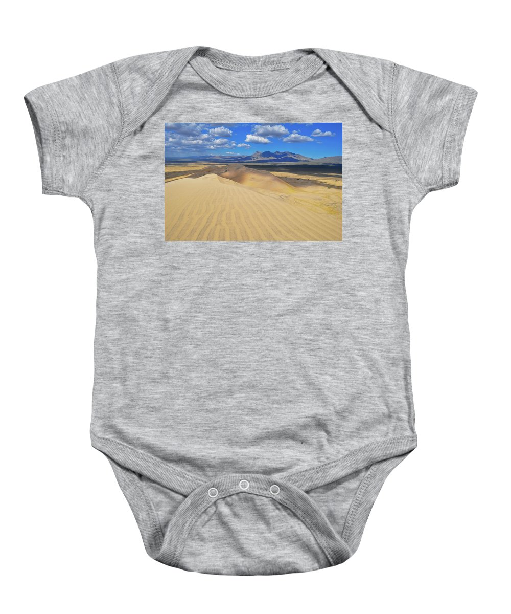 Mojave Desert Baby Onesie featuring the photograph Mojave Kelso Dunes Landscape by Kyle Hanson