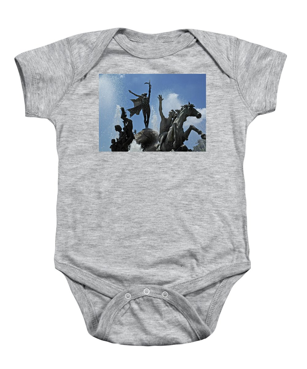 Statue Baby Onesie featuring the photograph Old San Juan Puerto Rico by Tito Santiago