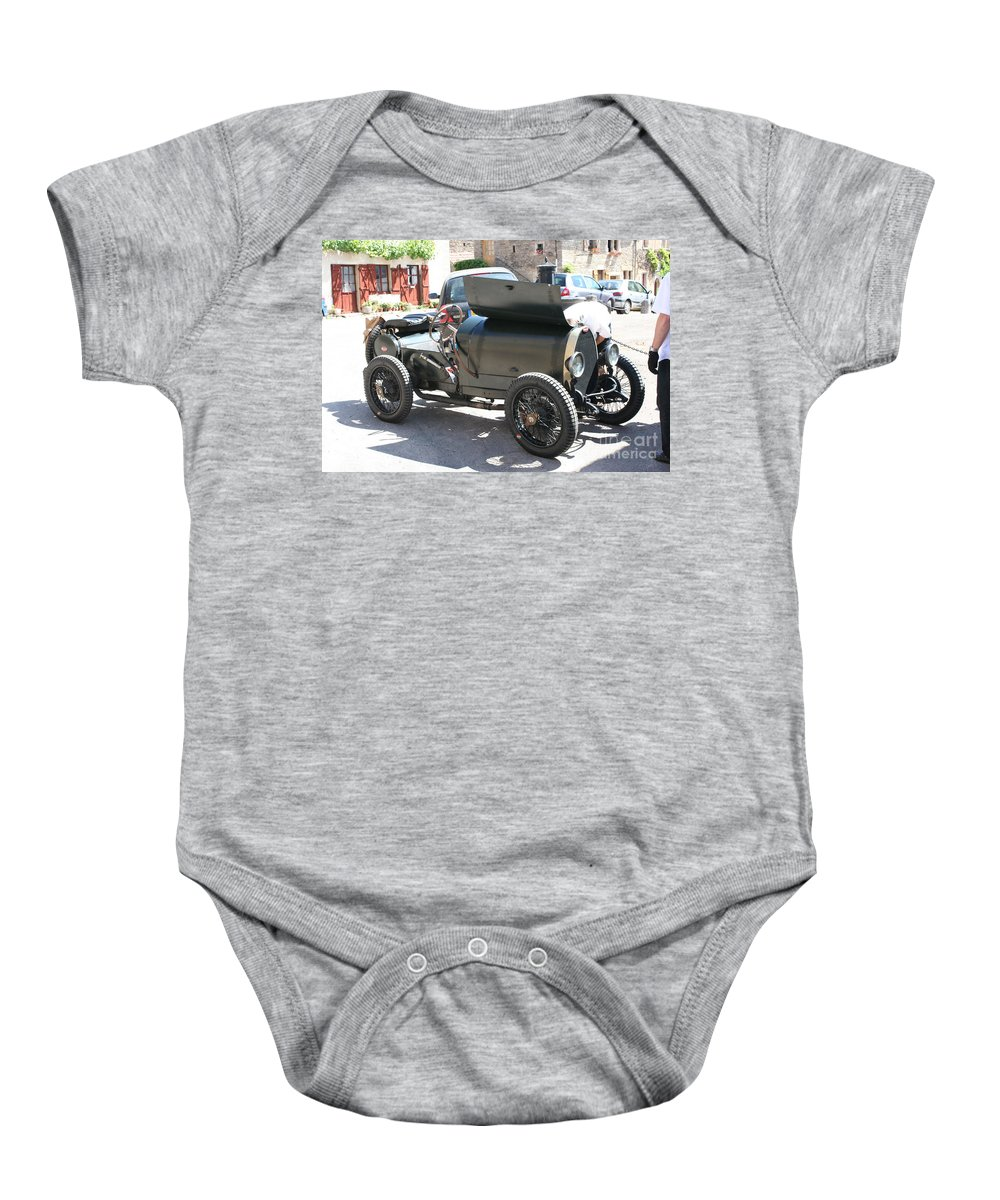 Oldtimer Baby Onesie featuring the photograph Oldtimer by Christiane Schulze Art And Photography