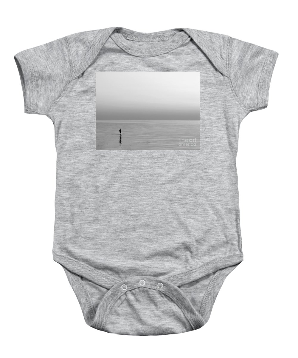Lake Baby Onesie featuring the photograph One Man by Dana DiPasquale