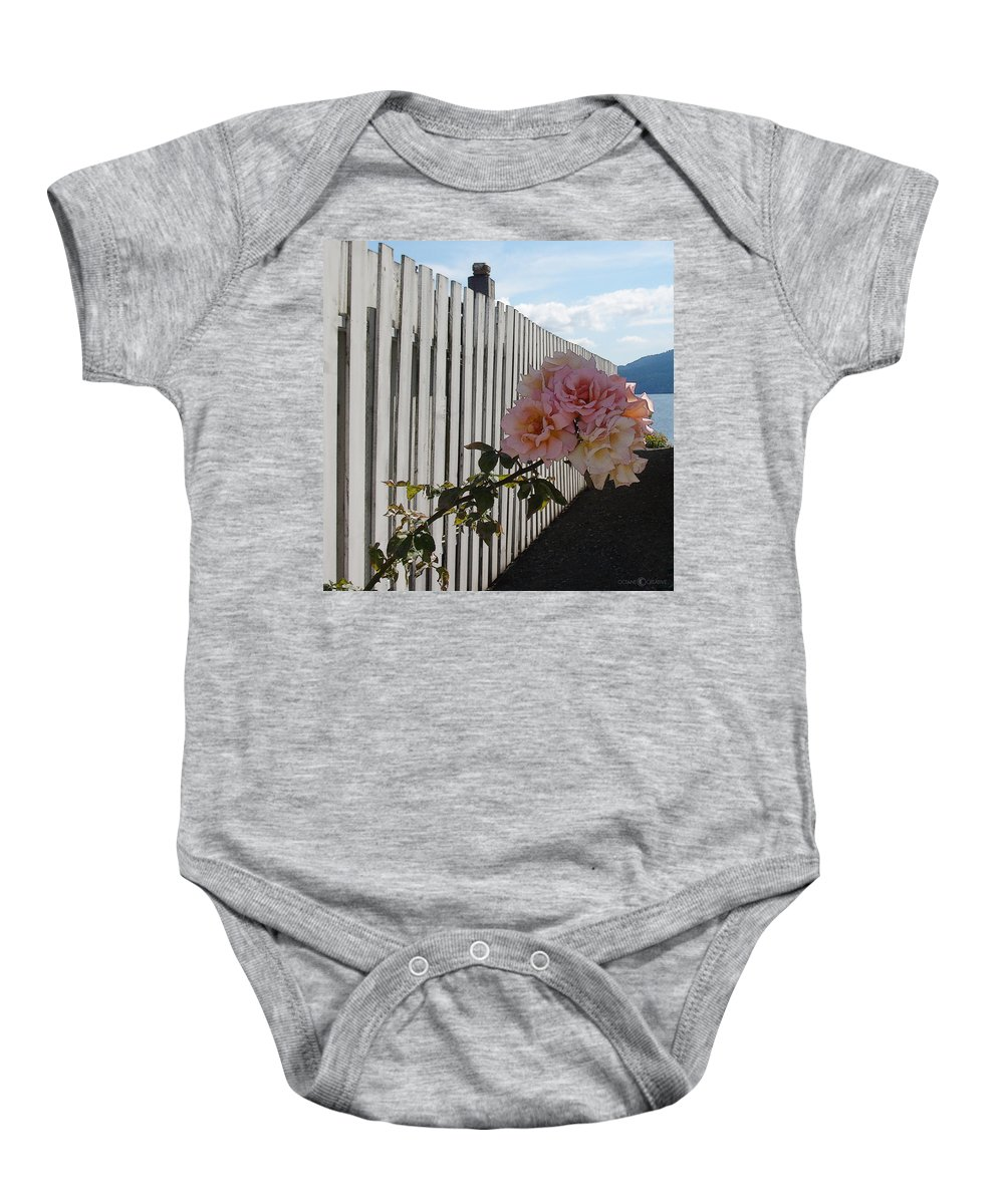 Rose Baby Onesie featuring the photograph Orcas Island Rose by Tim Nyberg