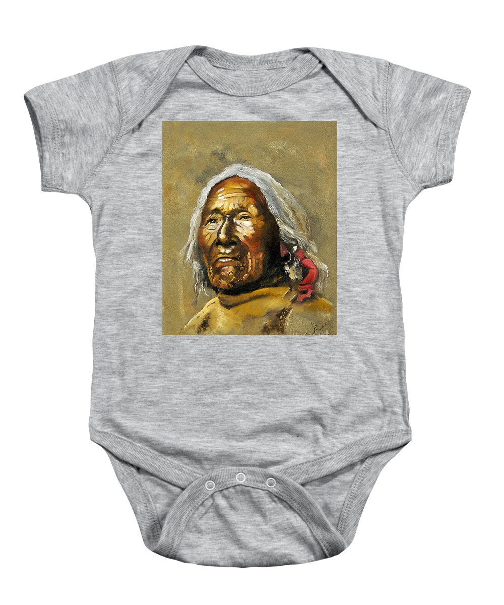 Southwest Art Baby Onesie featuring the painting Painted Sands Of Time by J W Baker