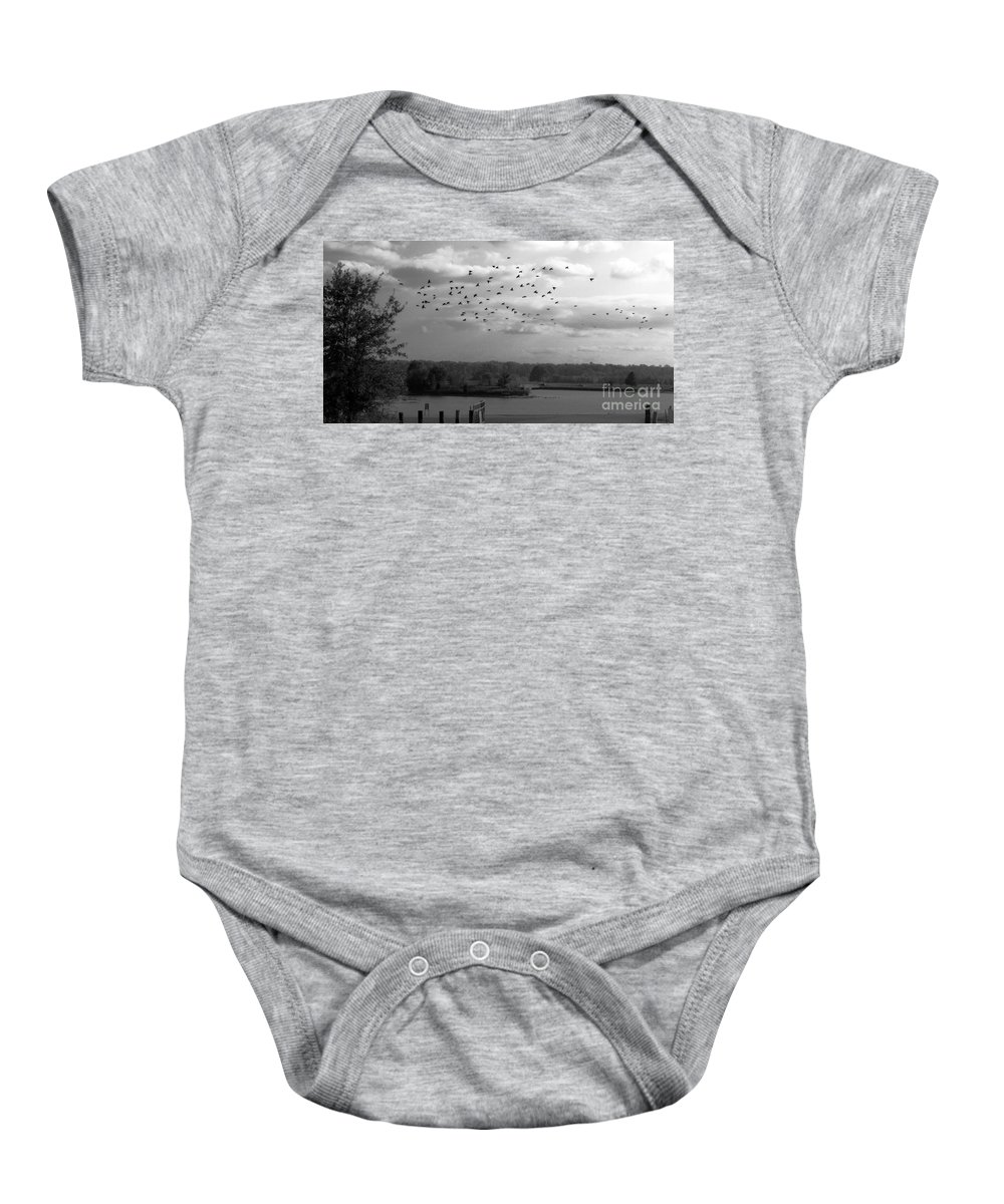 Pond Baby Onesie featuring the photograph Pond by Amanda Barcon