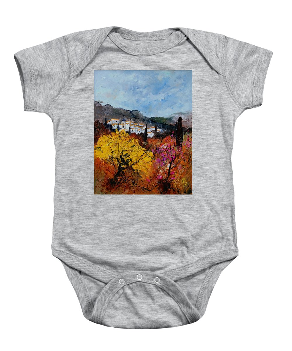Provence Baby Onesie featuring the painting Provence by Pol Ledent
