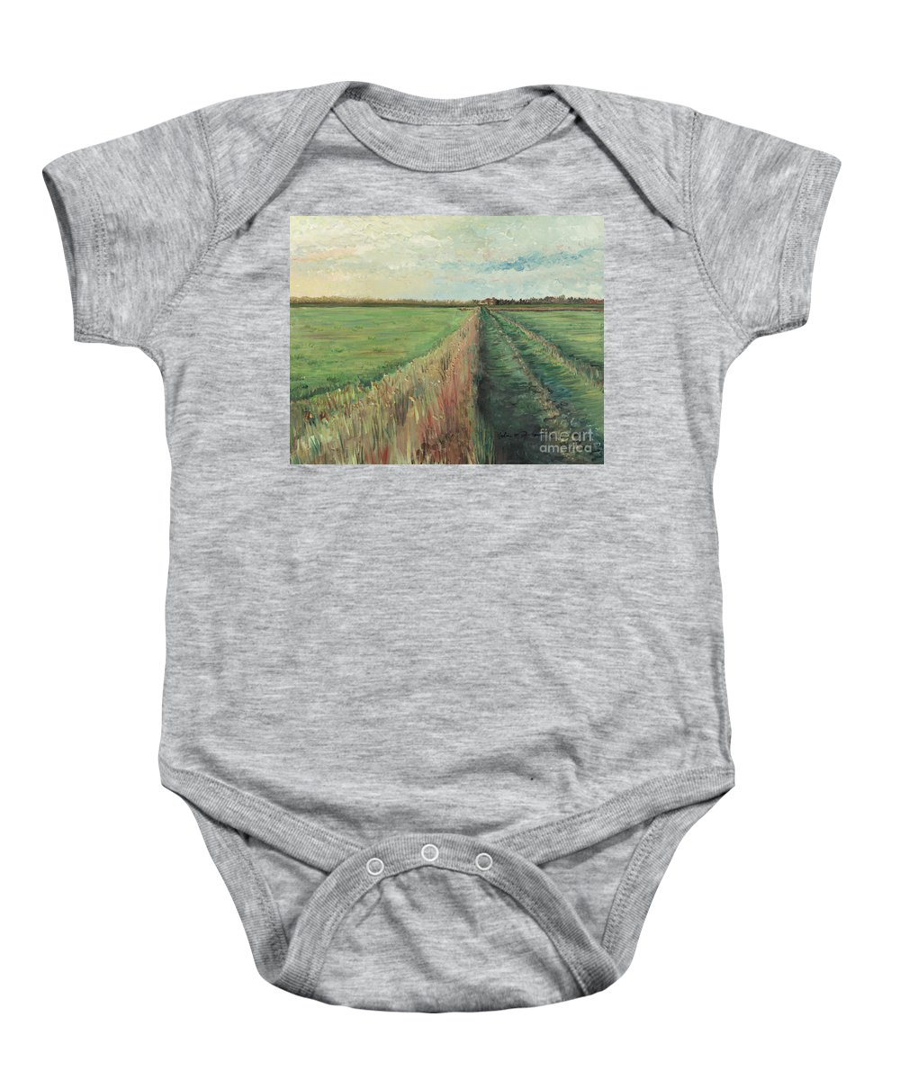 Provence Baby Onesie featuring the painting Provence Villa by Nadine Rippelmeyer