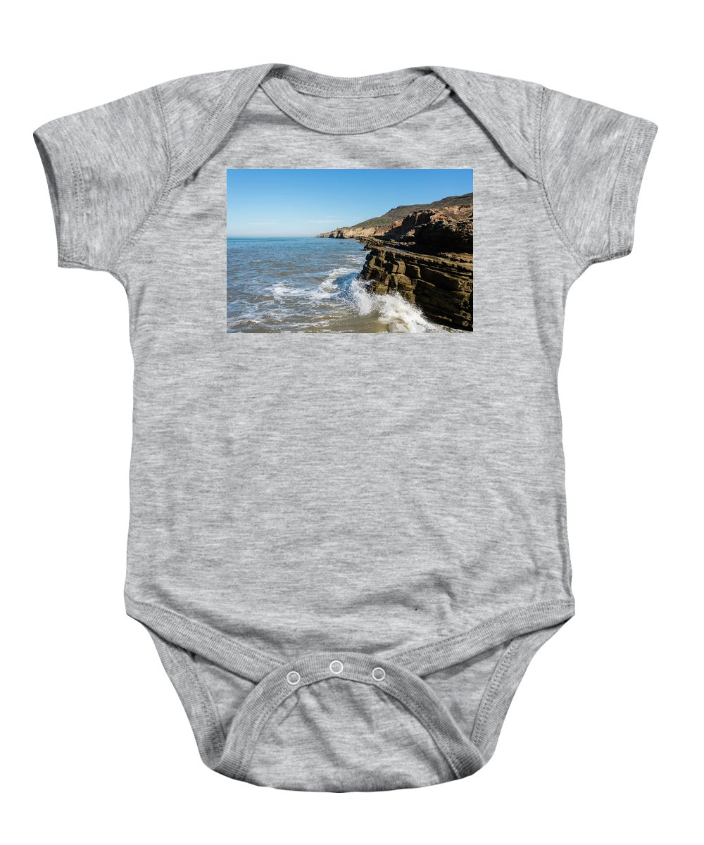 Point Loma Tide Pools Baby Onesie featuring the photograph Point Loma Tide Pools Area by Robert VanDerWal