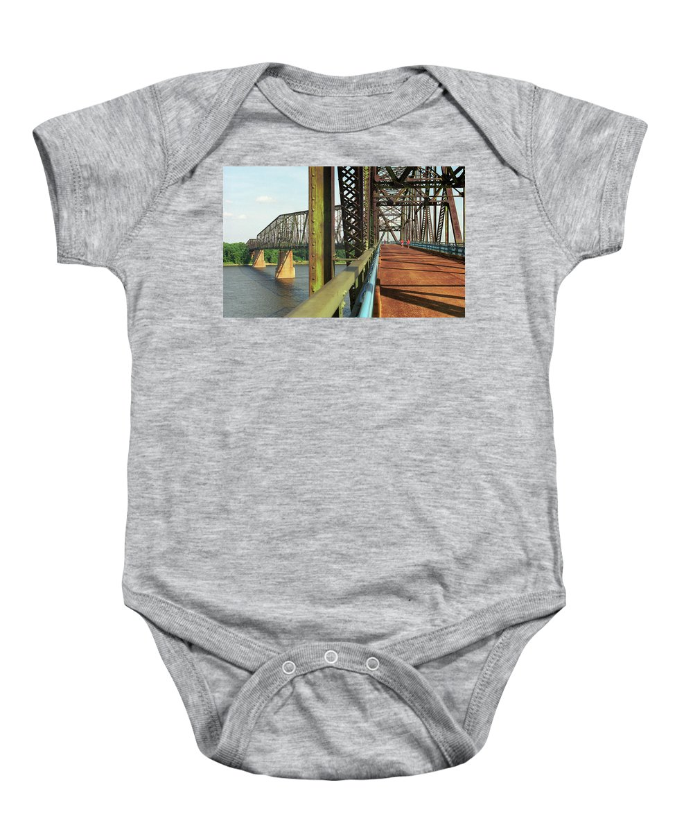 66 Baby Onesie featuring the photograph Route 66 - Chain Of Rocks Bridge by Frank Romeo