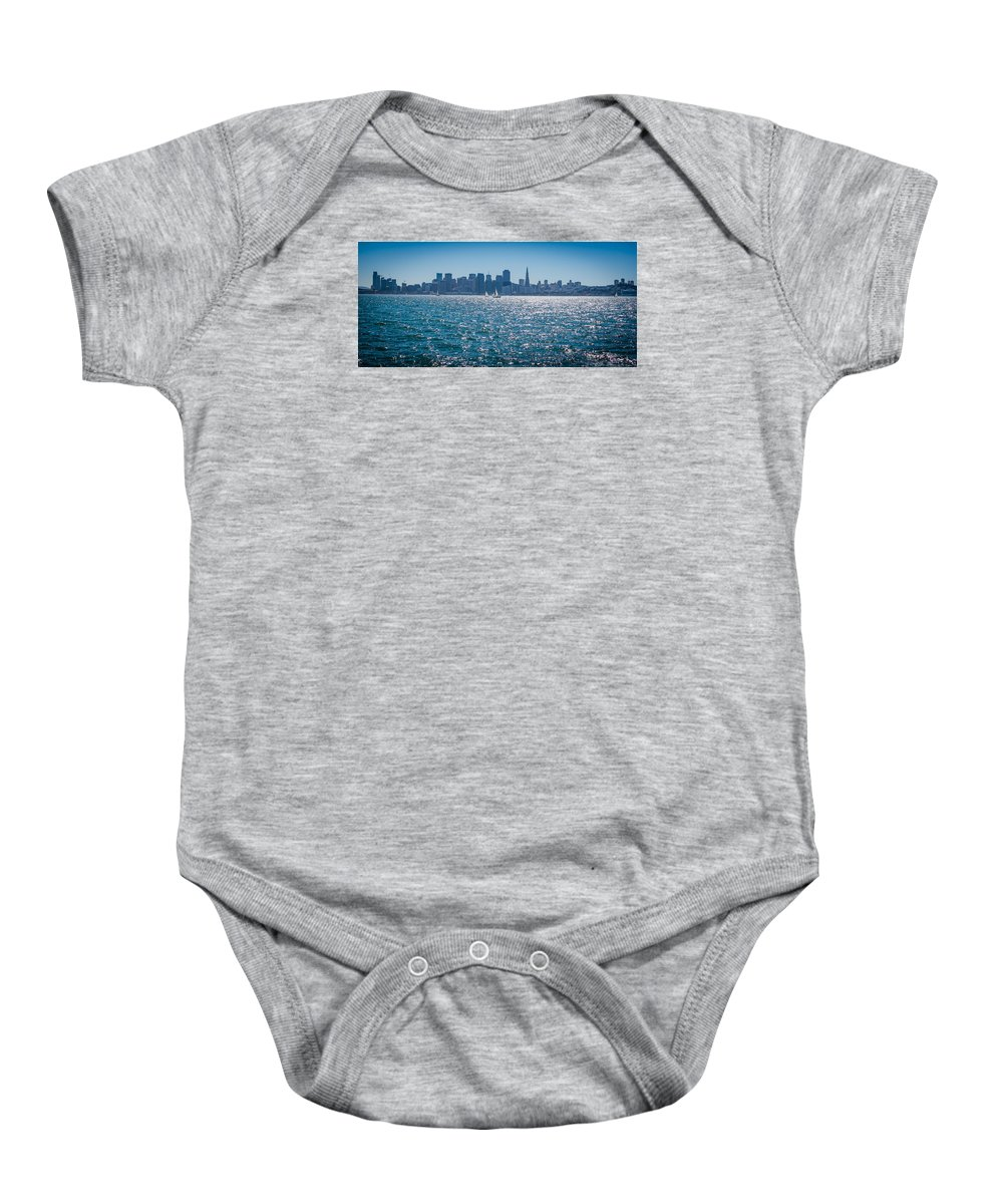 San Francisco Baby Onesie featuring the photograph San Francisco Skyline by Jayasimha Nuggehalli