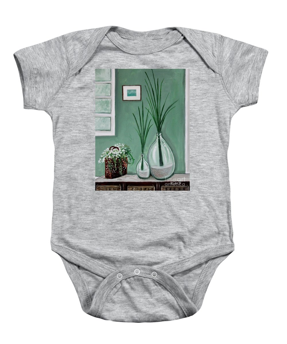 Home Decor Art Baby Onesie featuring the painting Sea Grass by Elizabeth Robinette Tyndall