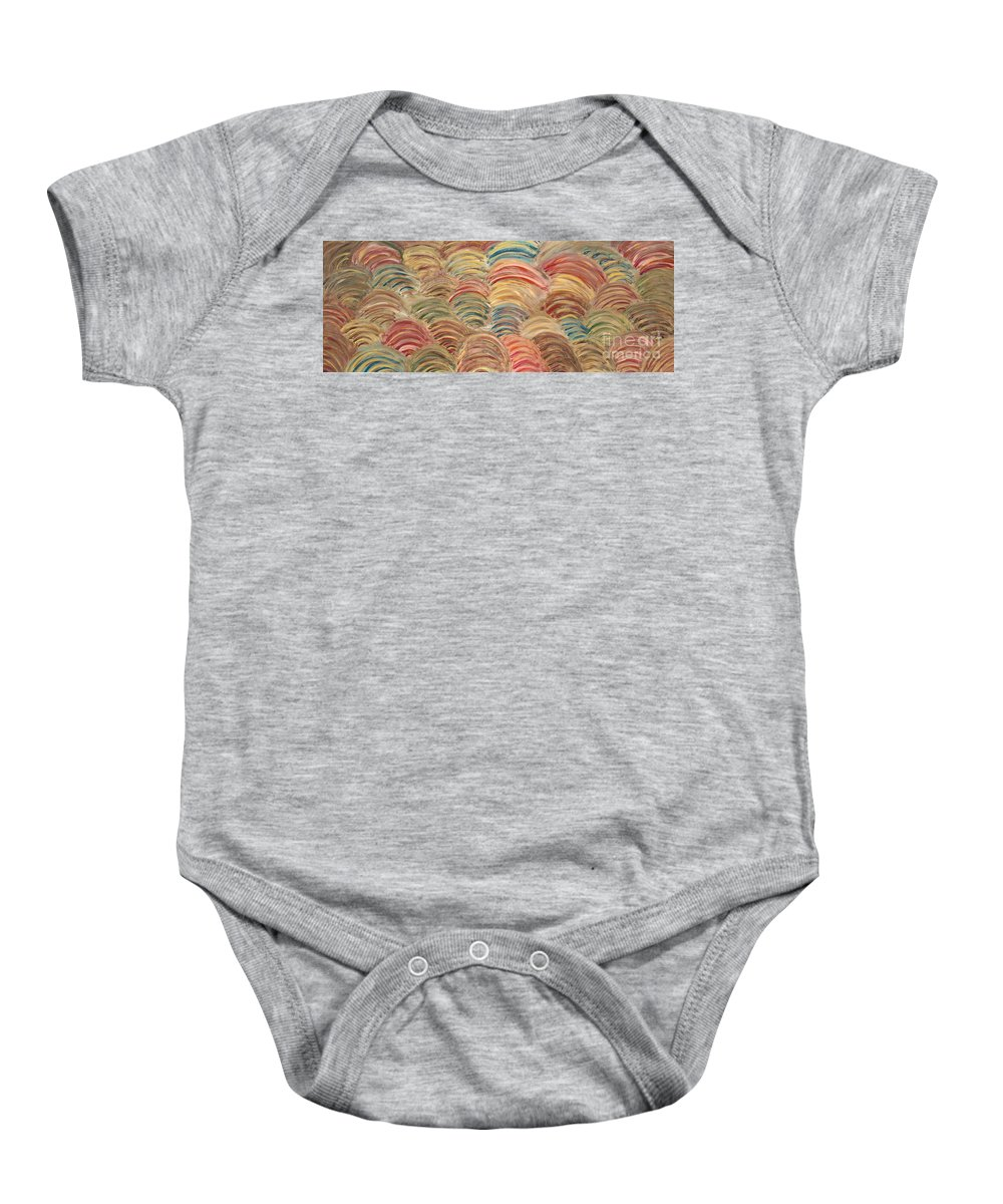 Sea Baby Onesie featuring the painting Seaside by Nadine Rippelmeyer