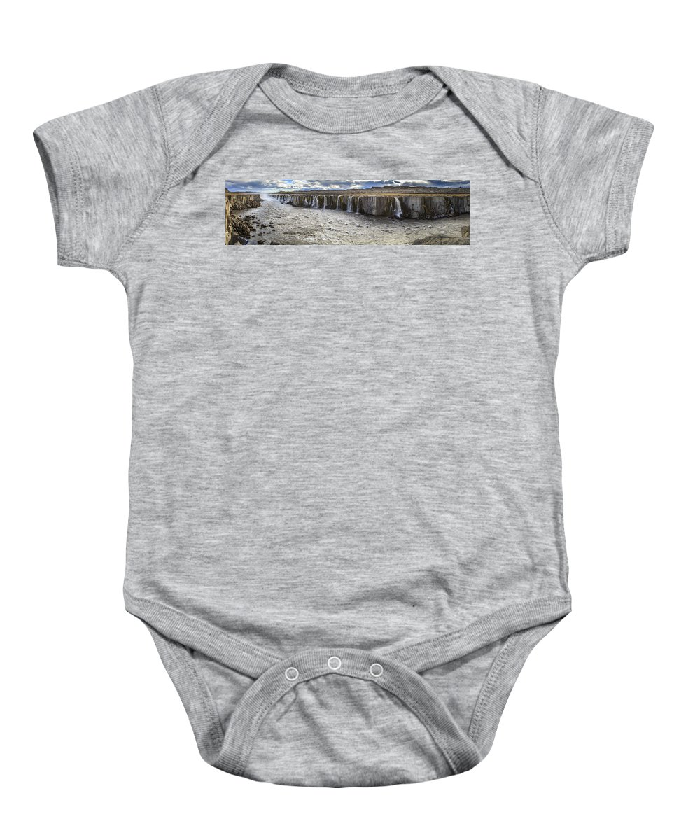 Europe Baby Onesie featuring the photograph Selfoss Waterfall by Alexey Stiop