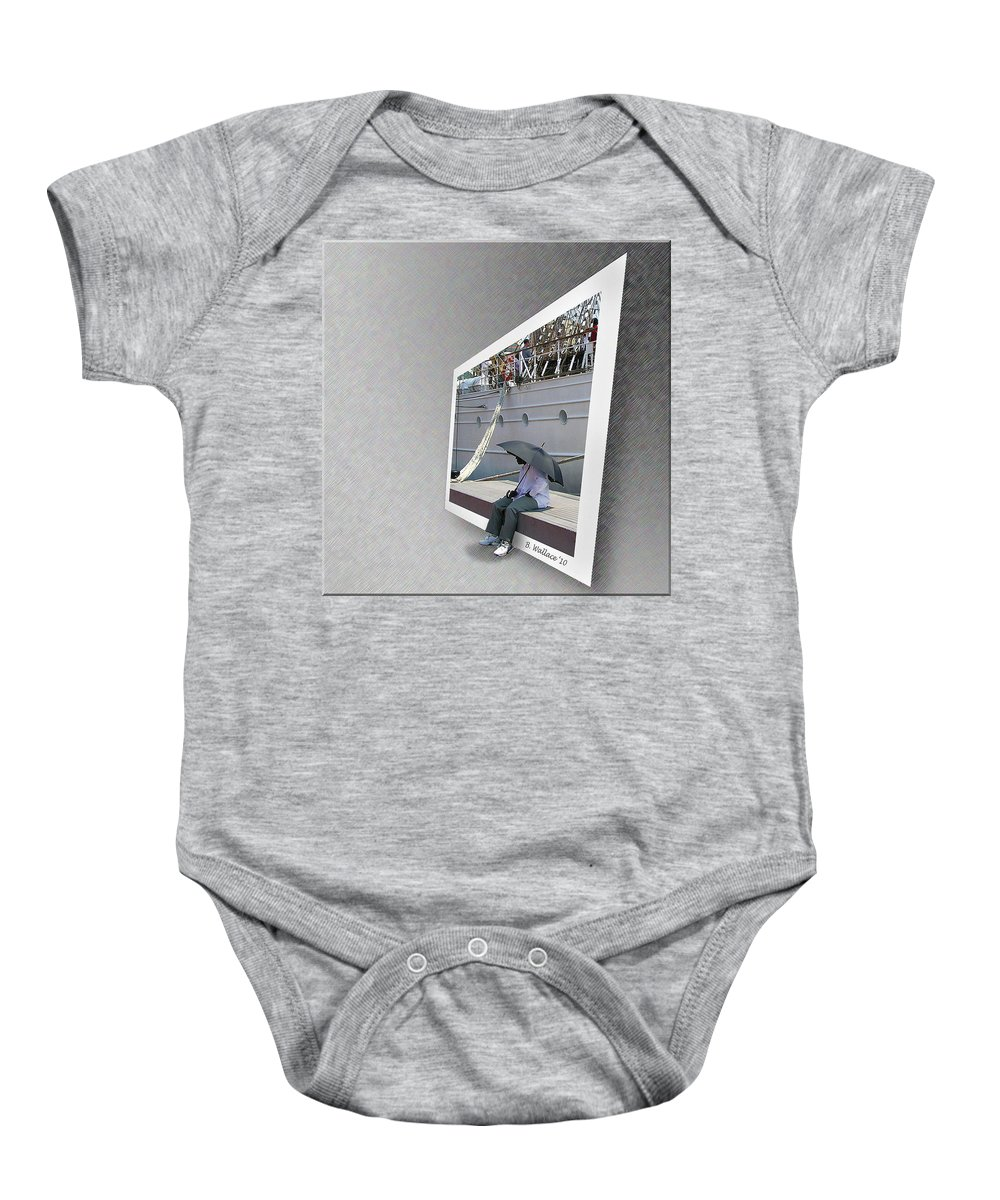 2d Baby Onesie featuring the photograph Somewhere It Is Raining by Brian Wallace