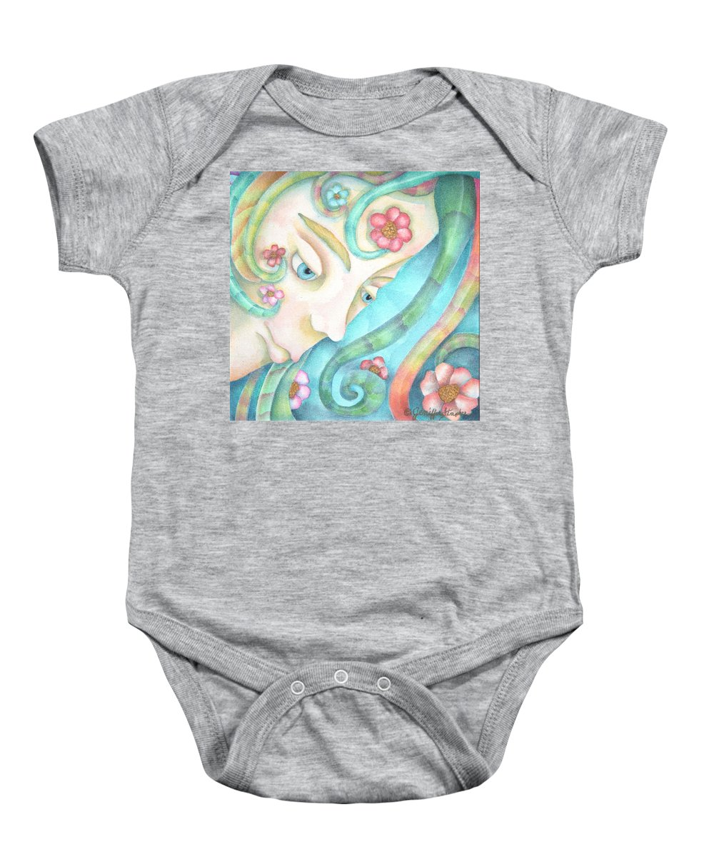 Sprite Baby Onesie featuring the painting Sprite Of Kind Thoughts by Jeniffer Stapher-Thomas
