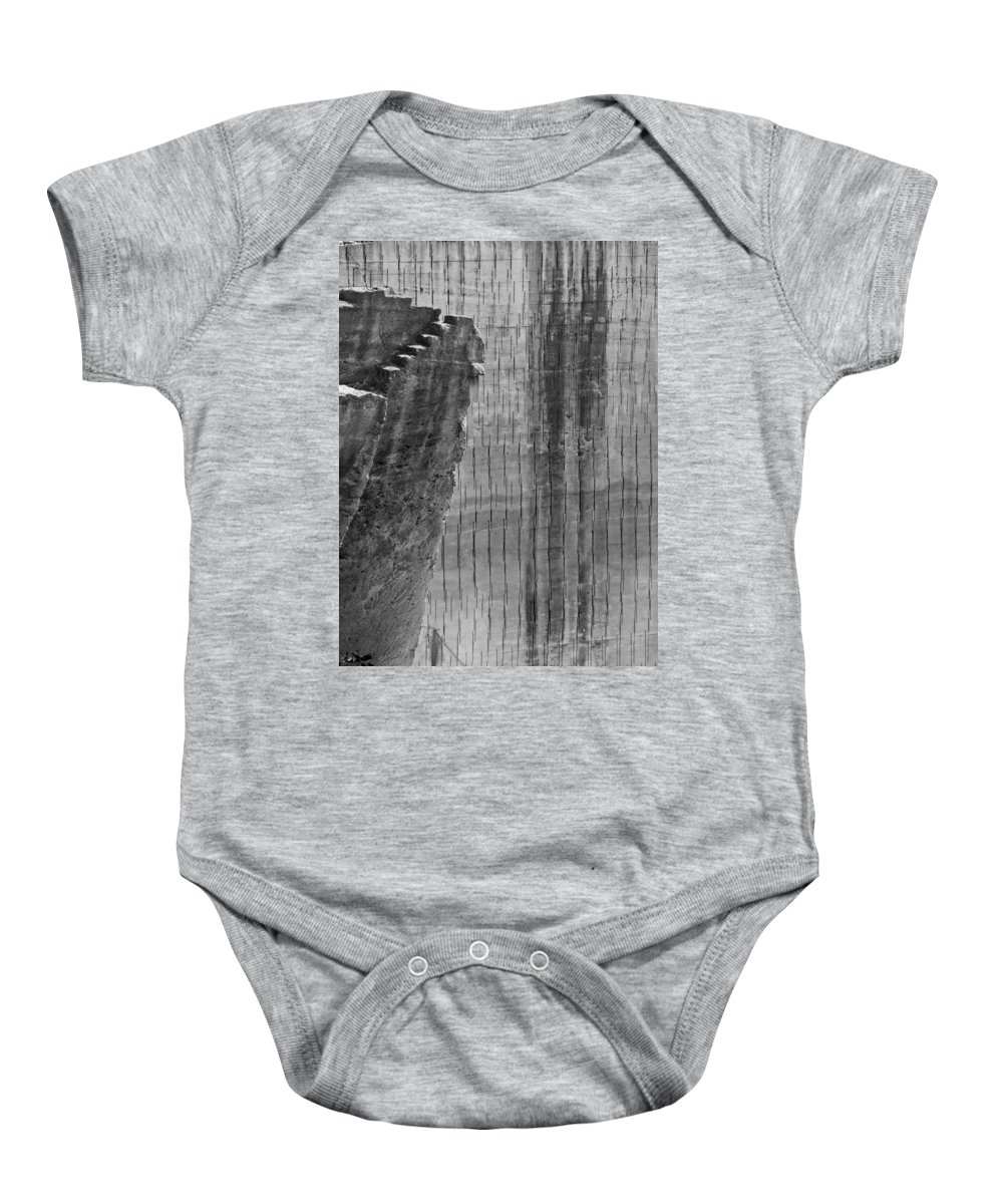 Limestone Baby Onesie featuring the photograph Stairway To No Were - Lime Stone Quarry Lithica In Minorca by Pedro Cardona Llambias