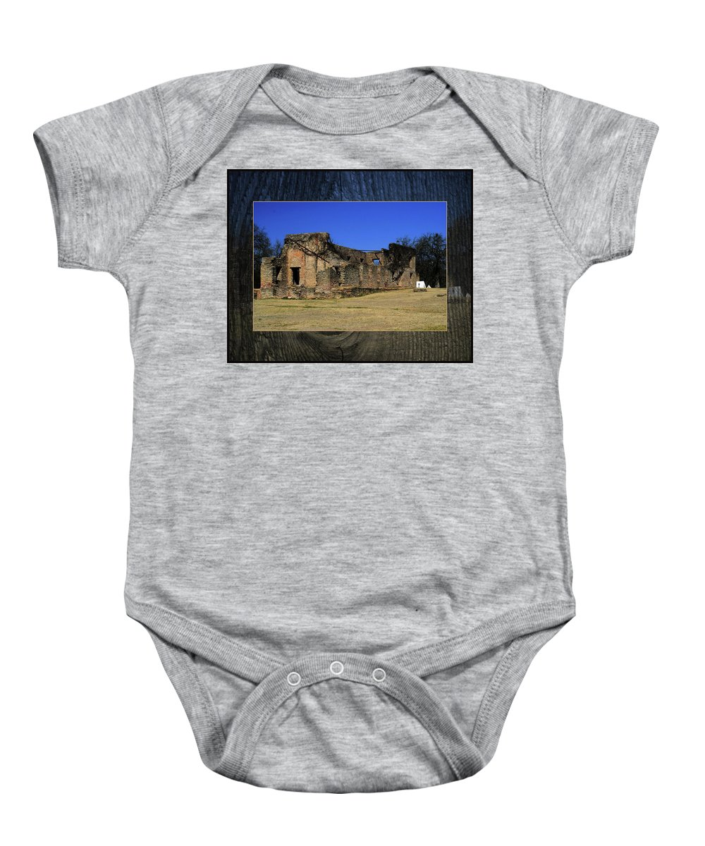 Rock Baby Onesie featuring the photograph Stone Fort by Bob Welch