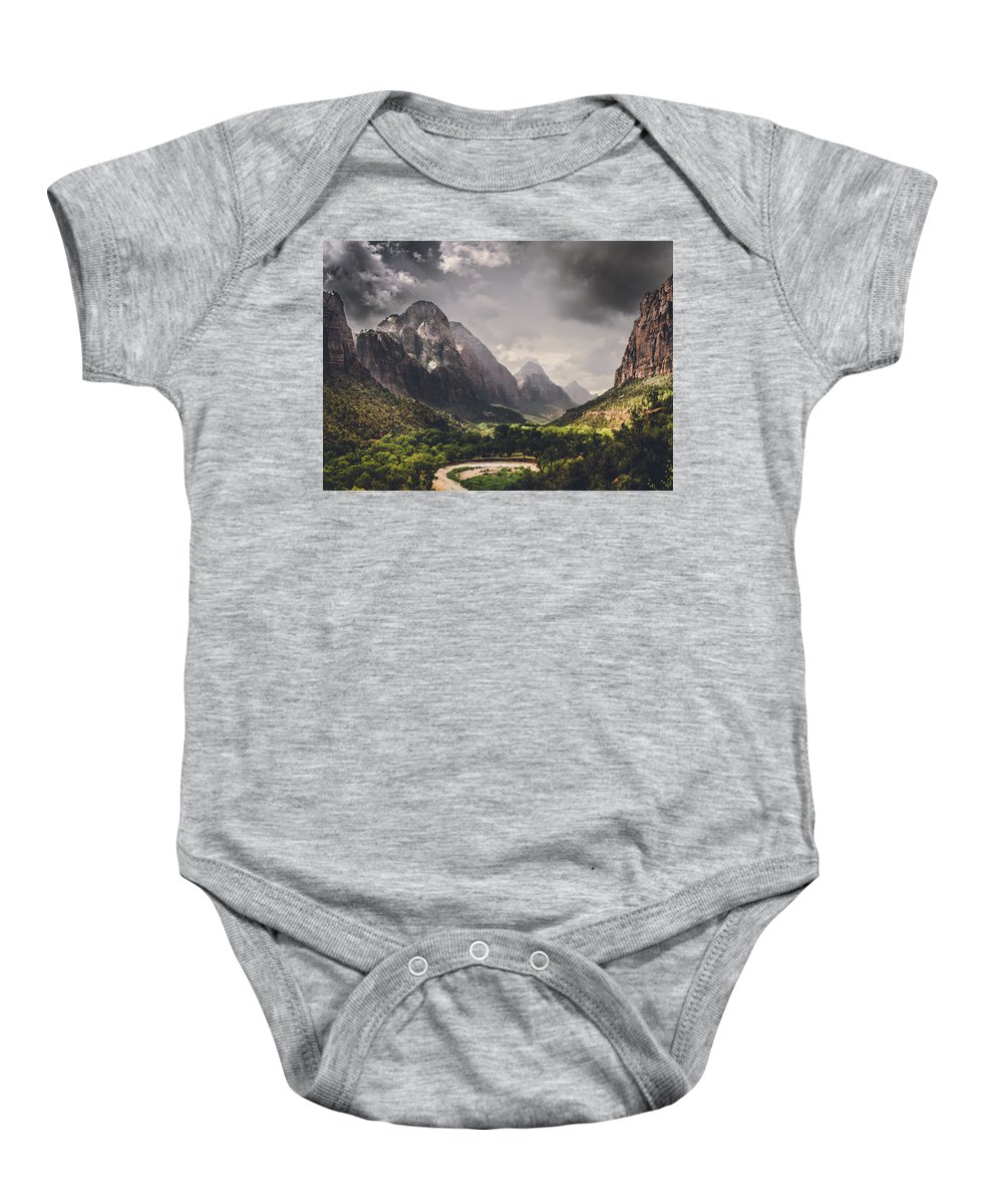 Storm Baby Onesie featuring the photograph Storm Is Coming by Matthijs Bettman