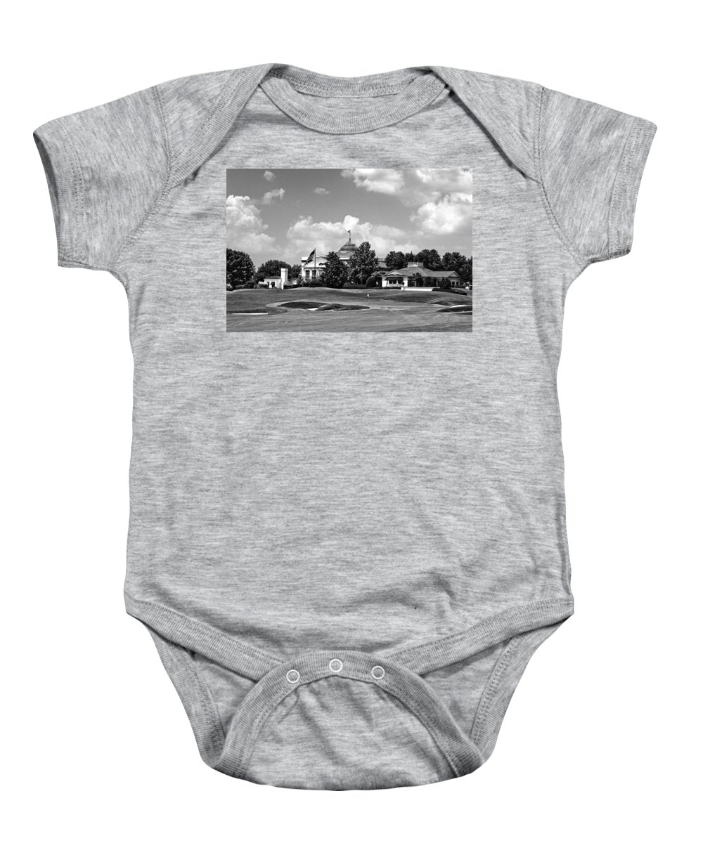 Golf Course Baby Onesie featuring the photograph Sucker Pin by Scott Pellegrin