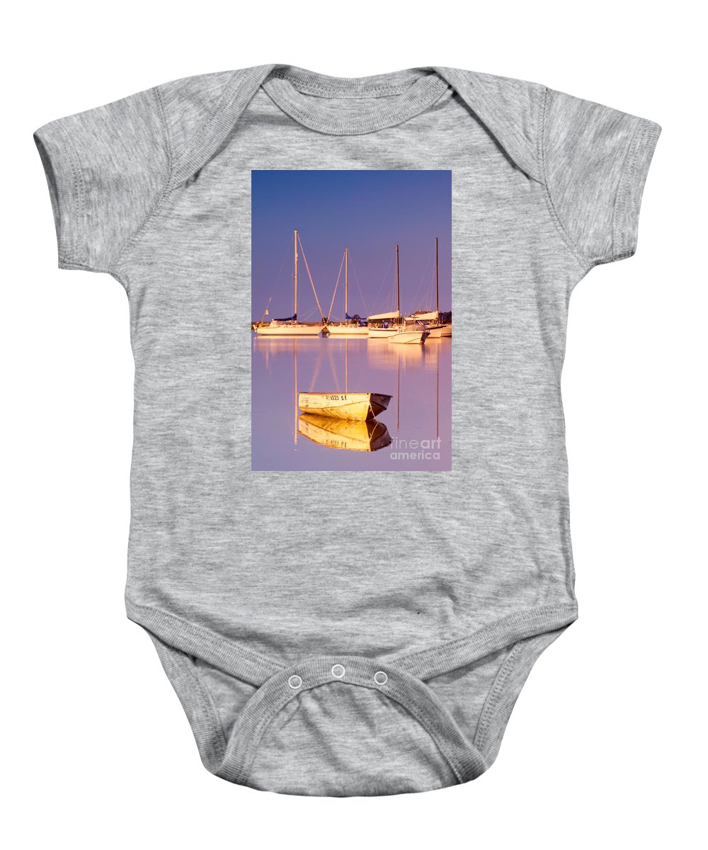 Sunrise Baby Onesie featuring the photograph Sunrise At West Bay Osterville Cape Cod by Matt Suess