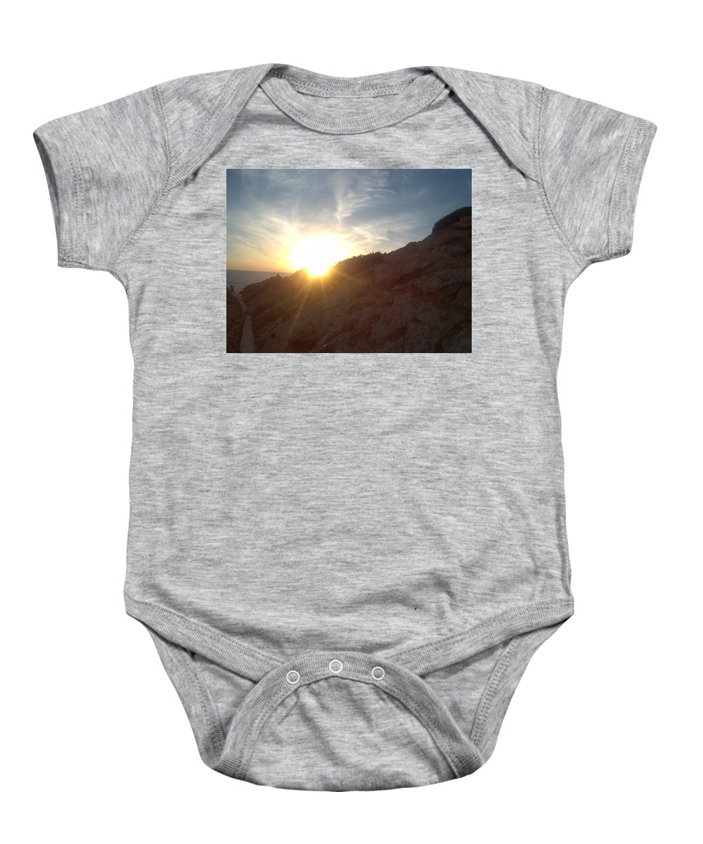 Sunset Baby Onesie featuring the photograph Sunset by GiannisXenos Photography