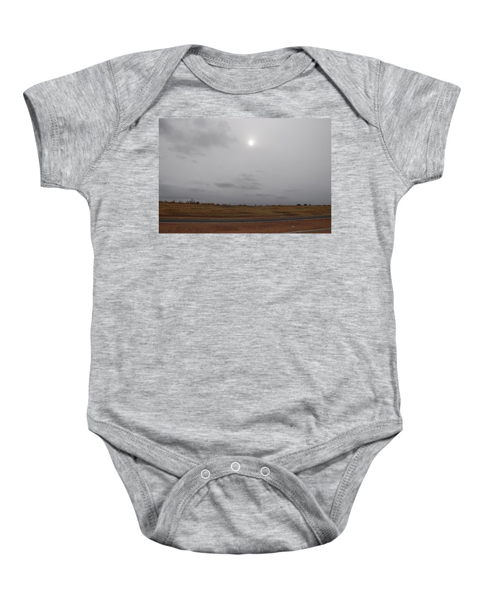Desert Baby Onesie featuring the photograph Sunset In The Desert by Rob Hans