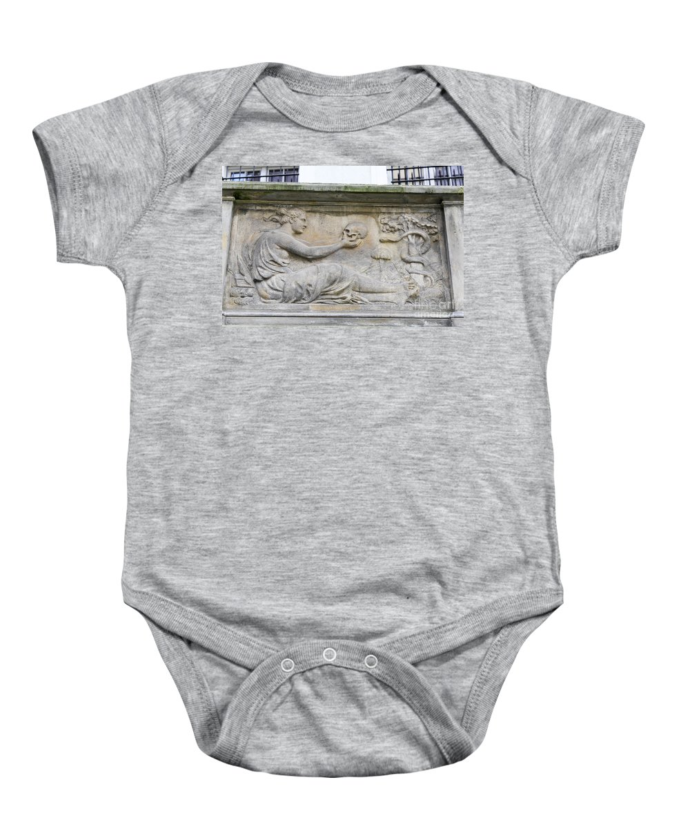 Tenement Baby Onesie featuring the photograph Tenement Houses Gdansk by Vladi Alon