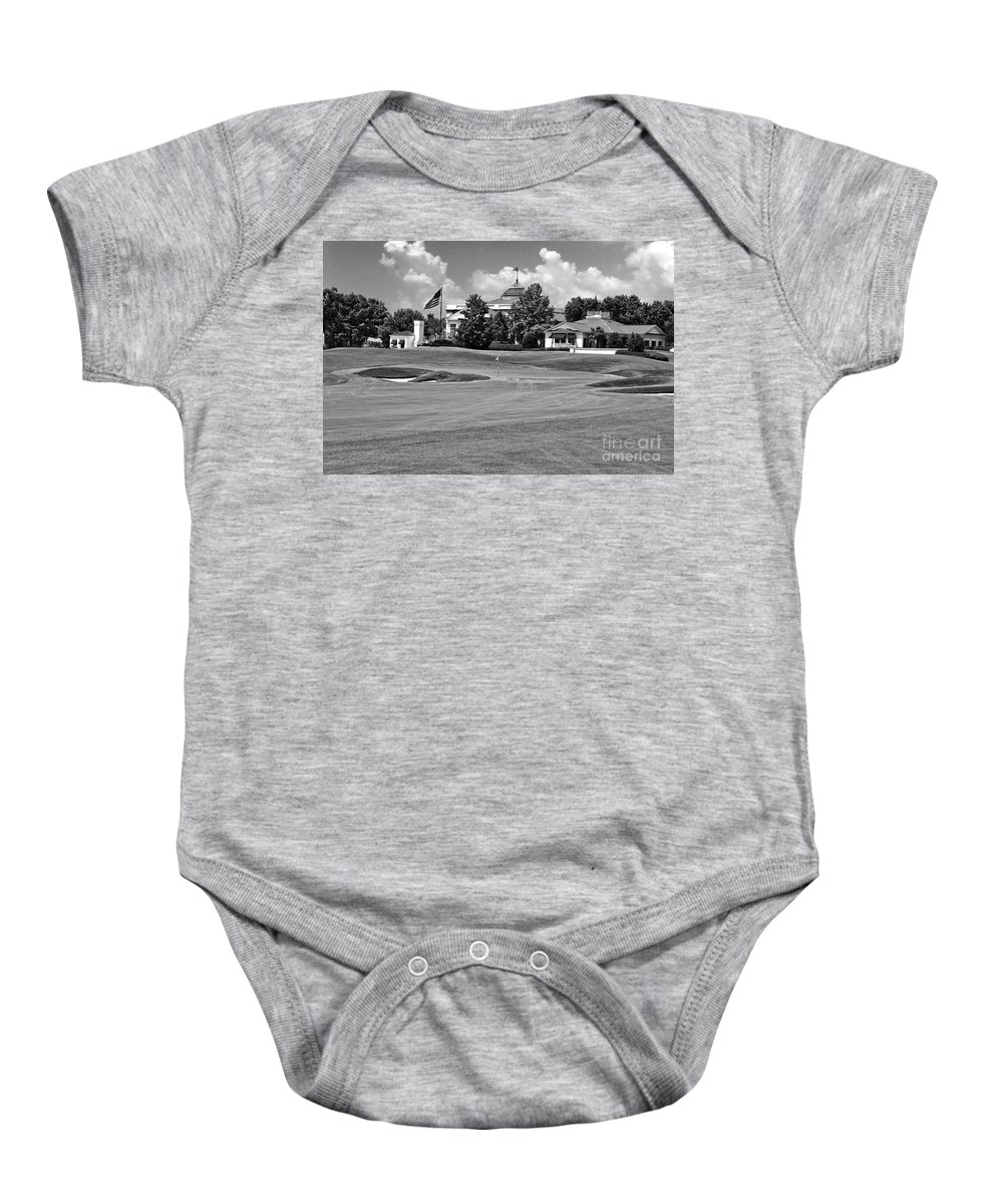 Golf Course Baby Onesie featuring the photograph The Approach by Scott Pellegrin