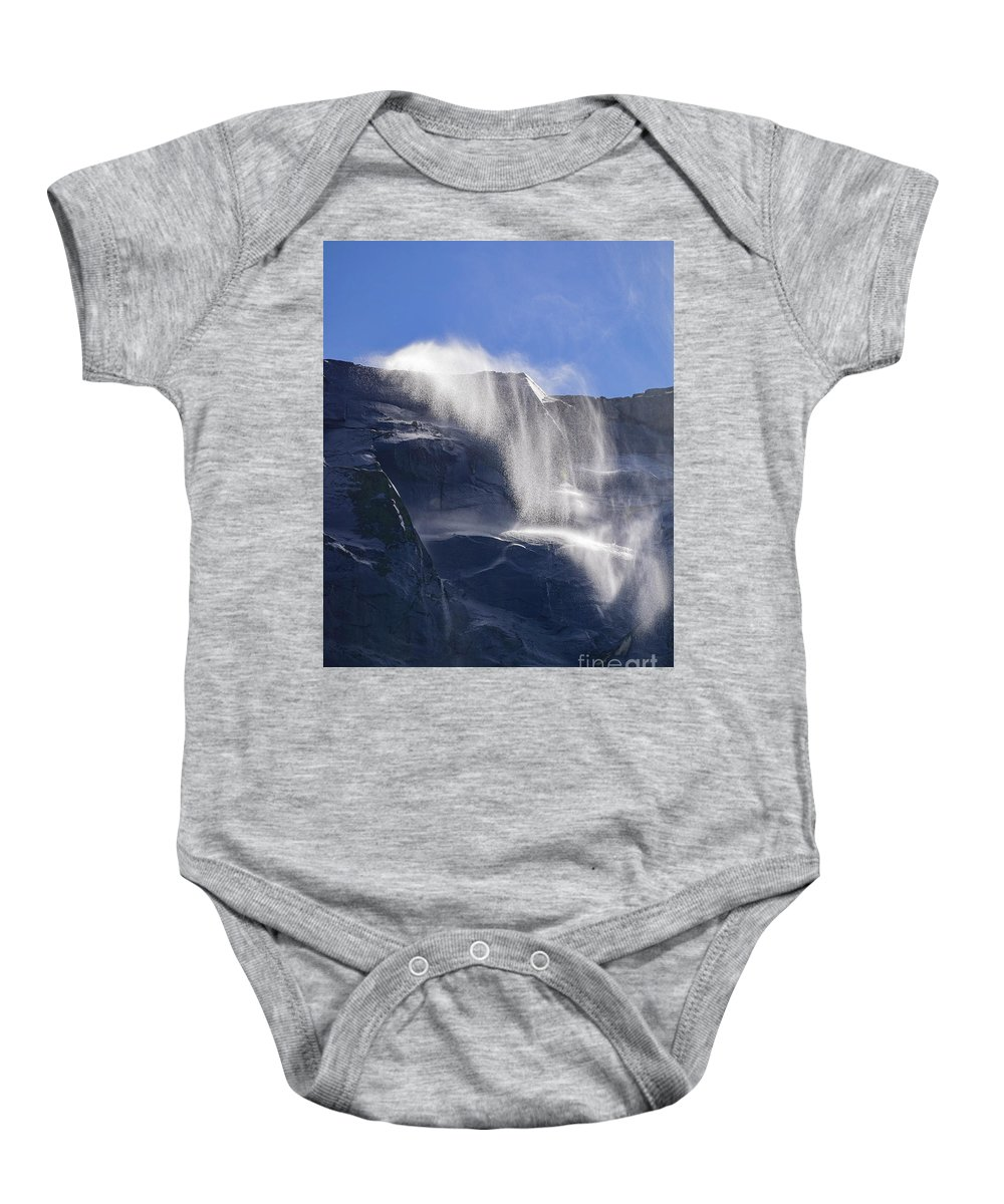 Nps Baby Onesie featuring the photograph The Beautiful Bridalveil Falls Of Yosemite by Chon Kit Leong