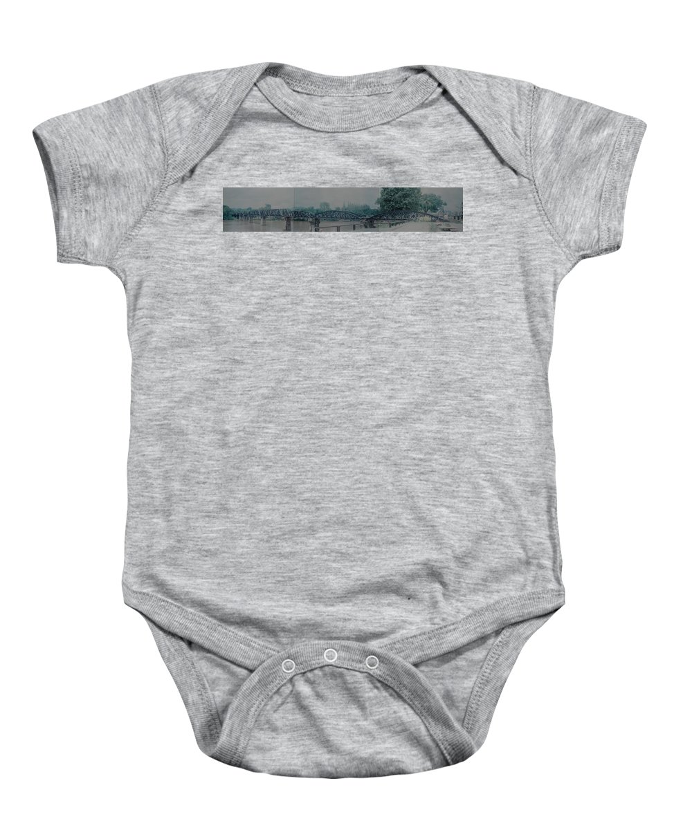 Bridge Baby Onesie featuring the photograph The Bridge On The River Kwai by Rob Hans