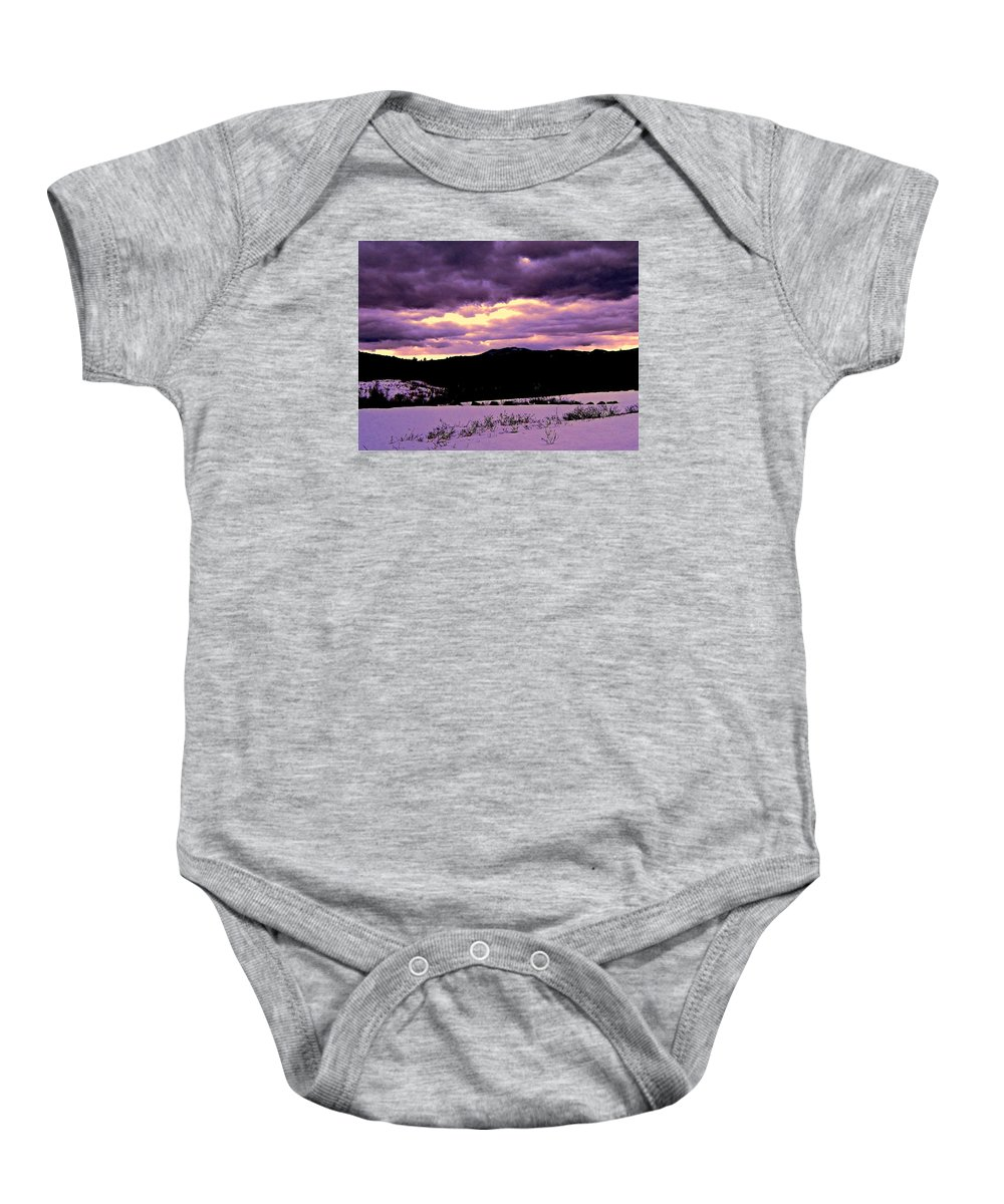 Baby Onesie featuring the photograph The Color Purple by Elizabeth Tillar
