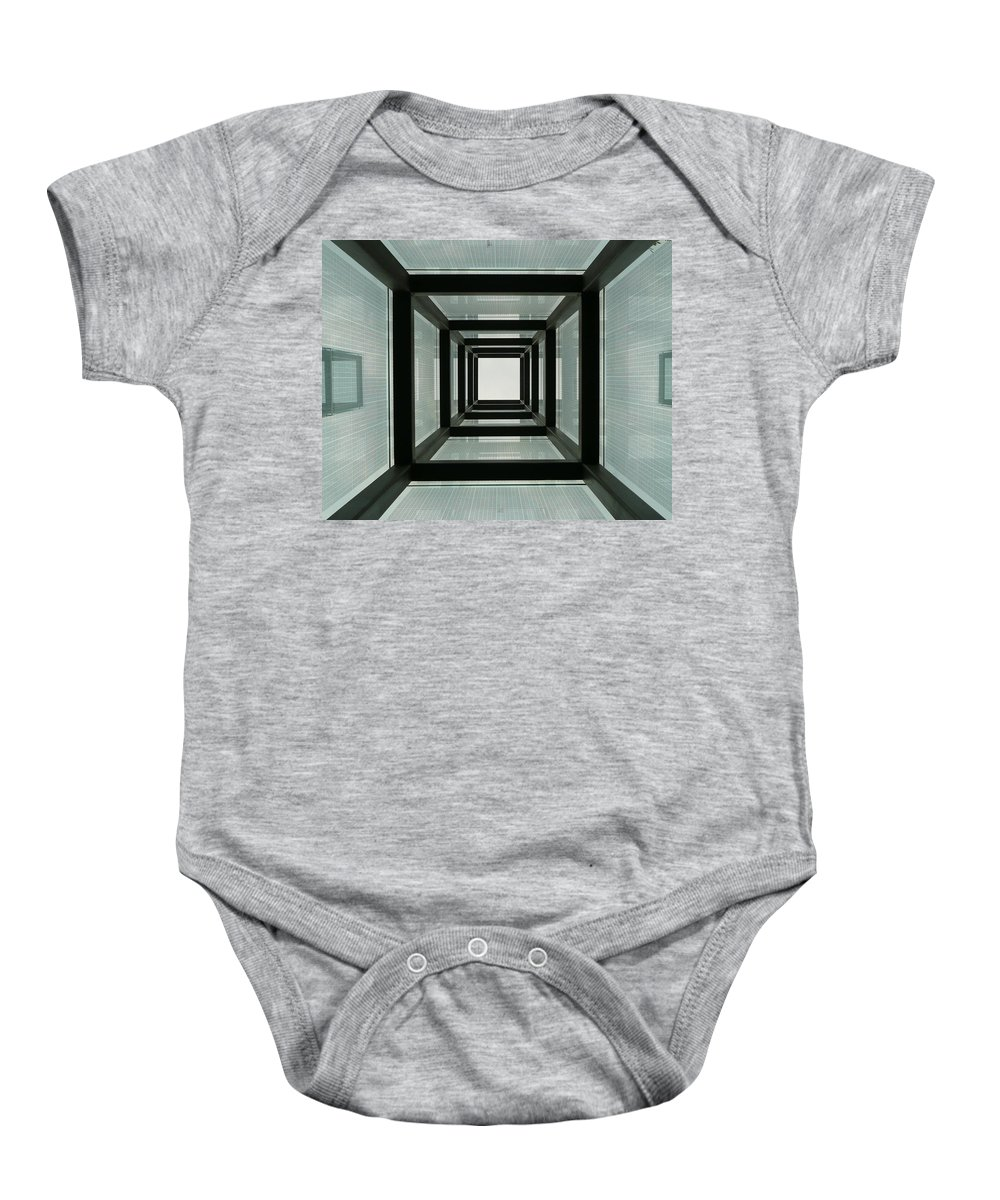 Holocaust Memorial Baby Onesie featuring the photograph Tunnel Vision by Jeff Bord
