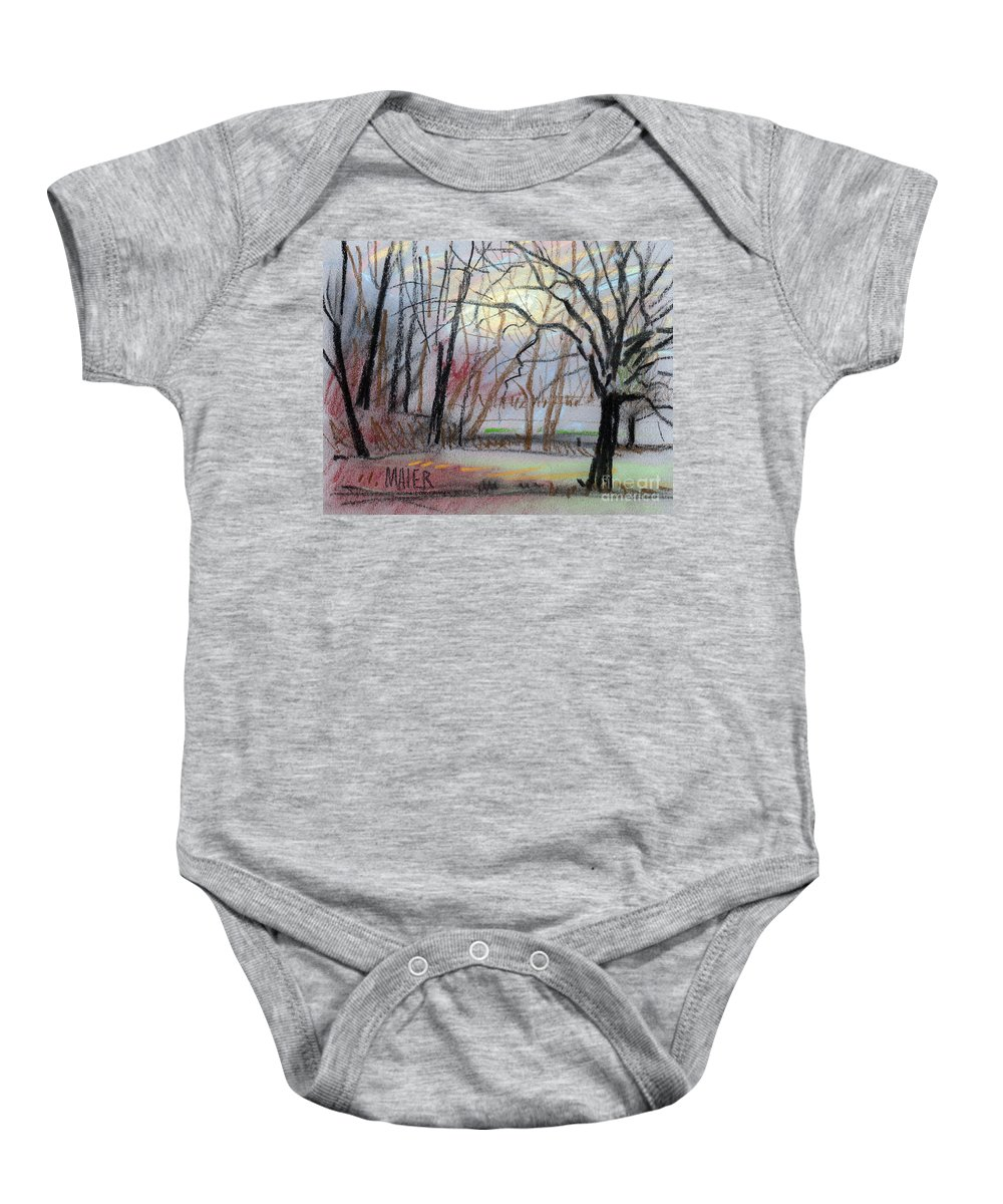 Landscape Baby Onesie featuring the drawing Turner South by Donald Maier