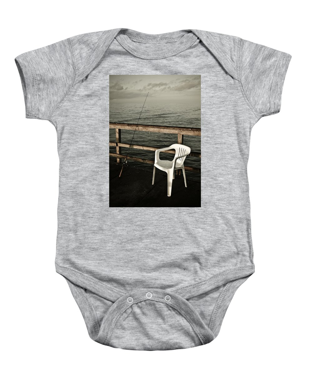 Fish Baby Onesie featuring the photograph Waiting by Marilyn Hunt