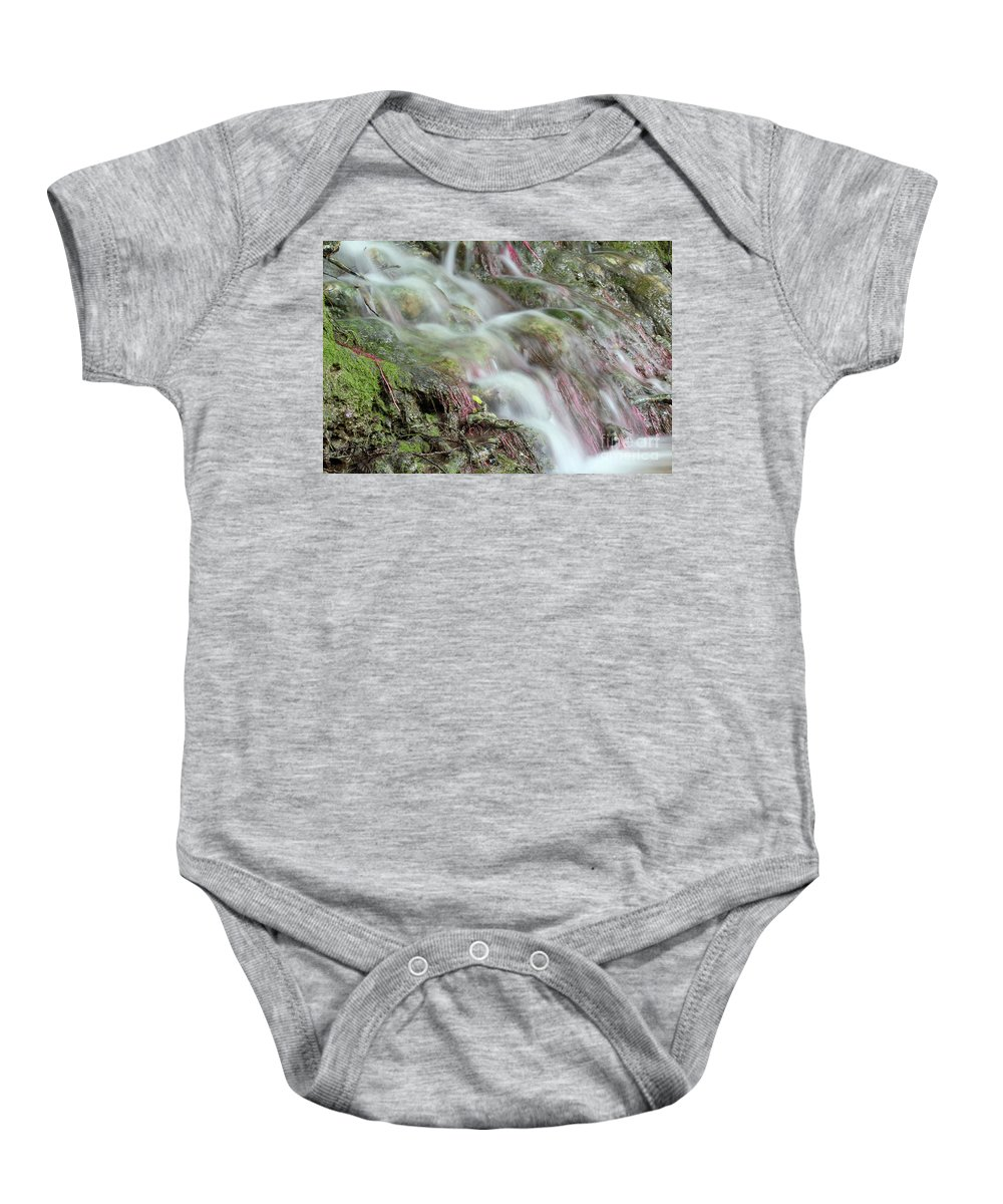 Waterfall Baby Onesie featuring the photograph Water Spring Scene by Goce Risteski