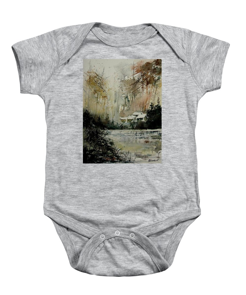 Water Baby Onesie featuring the painting Watercolor 070608 by Pol Ledent