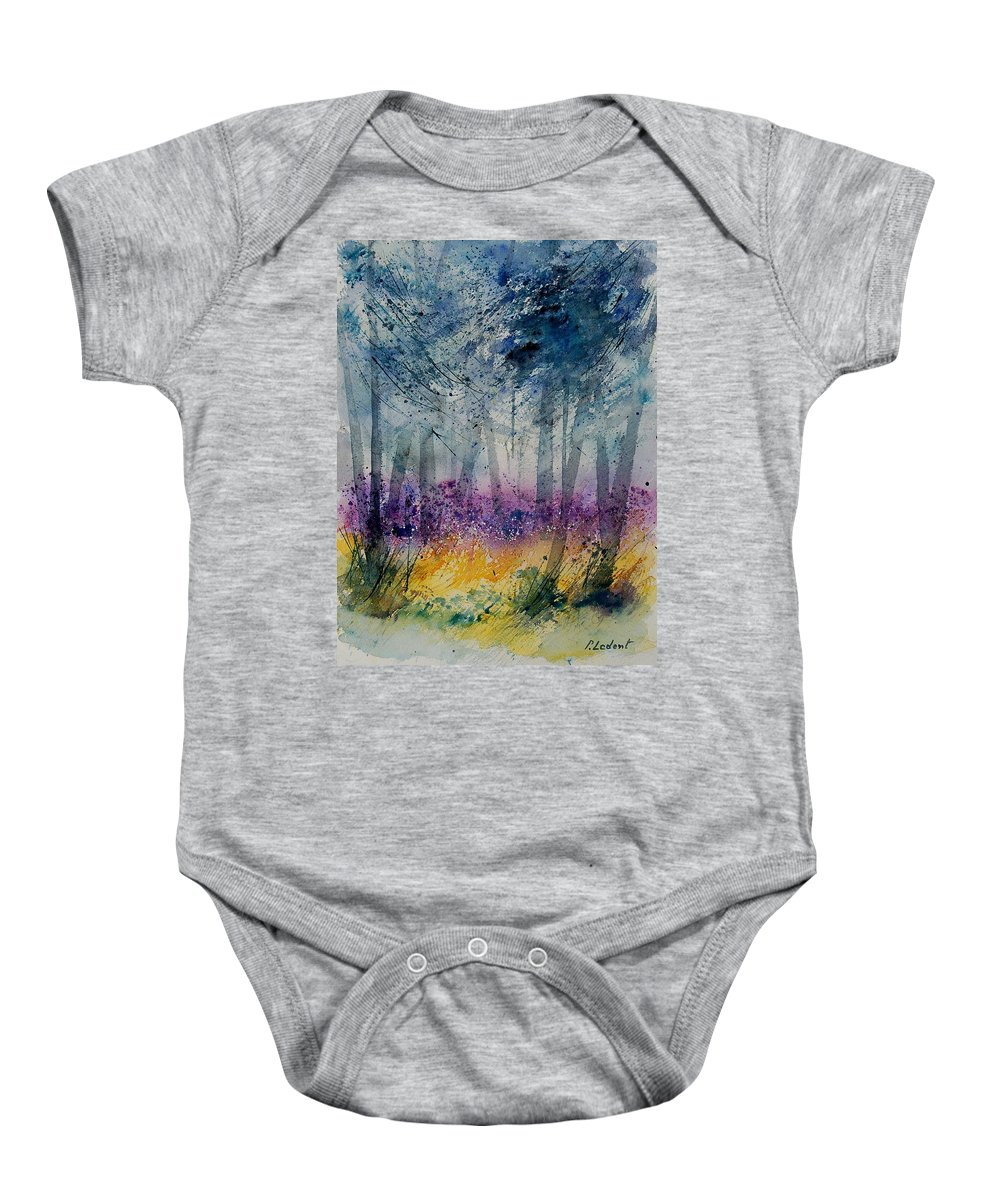 Flowers Baby Onesie featuring the painting Watercolor 130608 by Pol Ledent