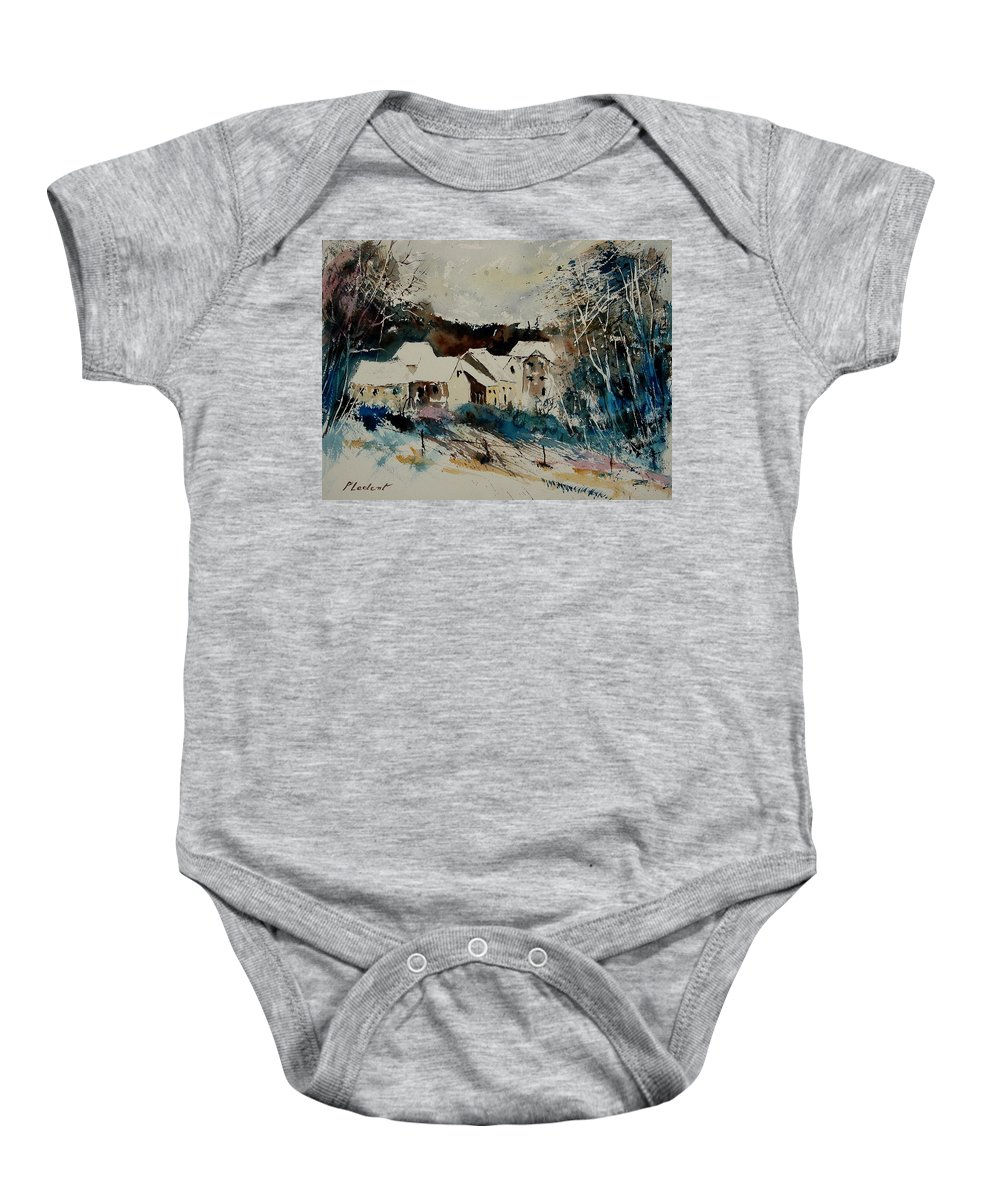 Winter Baby Onesie featuring the painting Watercolor 902040 by Pol Ledent