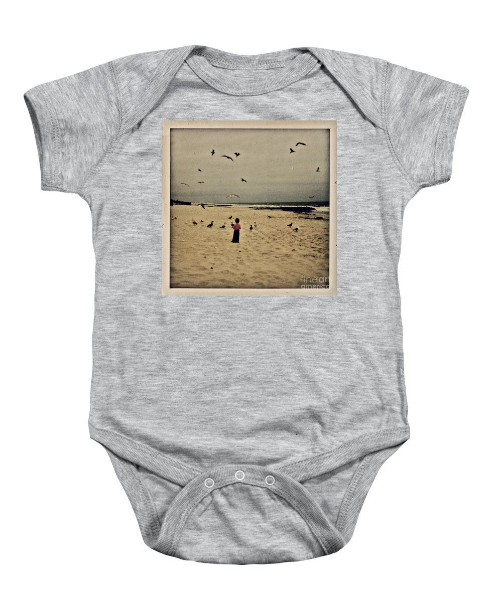 Ocean Baby Onesie featuring the photograph When Promises Were For Keeps by Dana DiPasquale