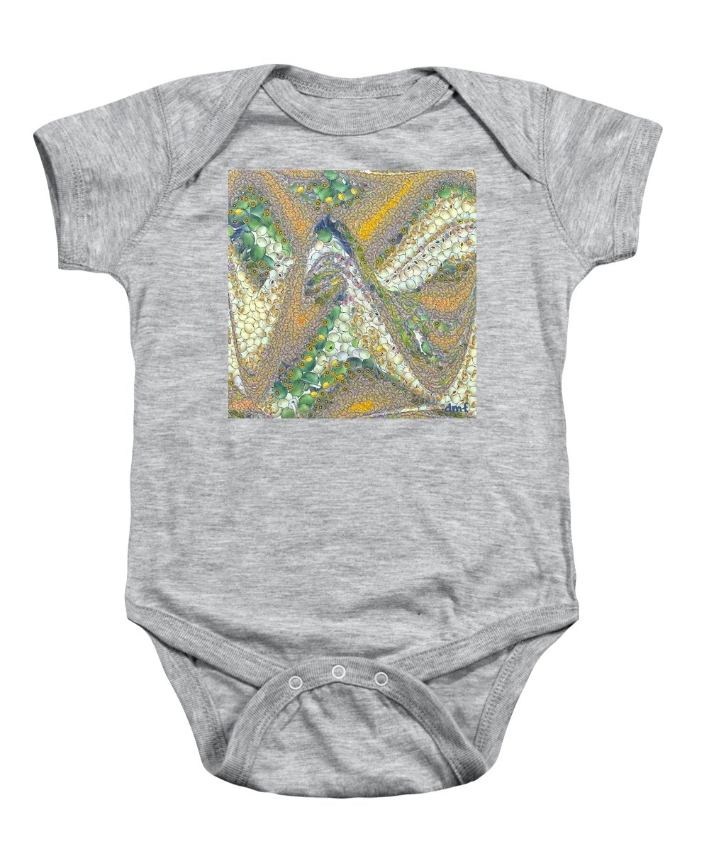 Winter Baby Onesie featuring the painting Winter by Dragica Micki Fortuna