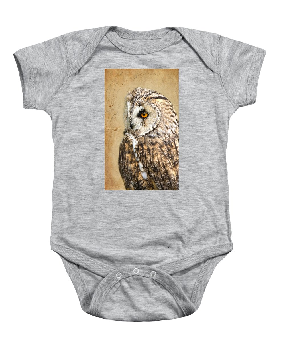 Owl Baby Onesie featuring the photograph Wise Owl by Scott Carruthers