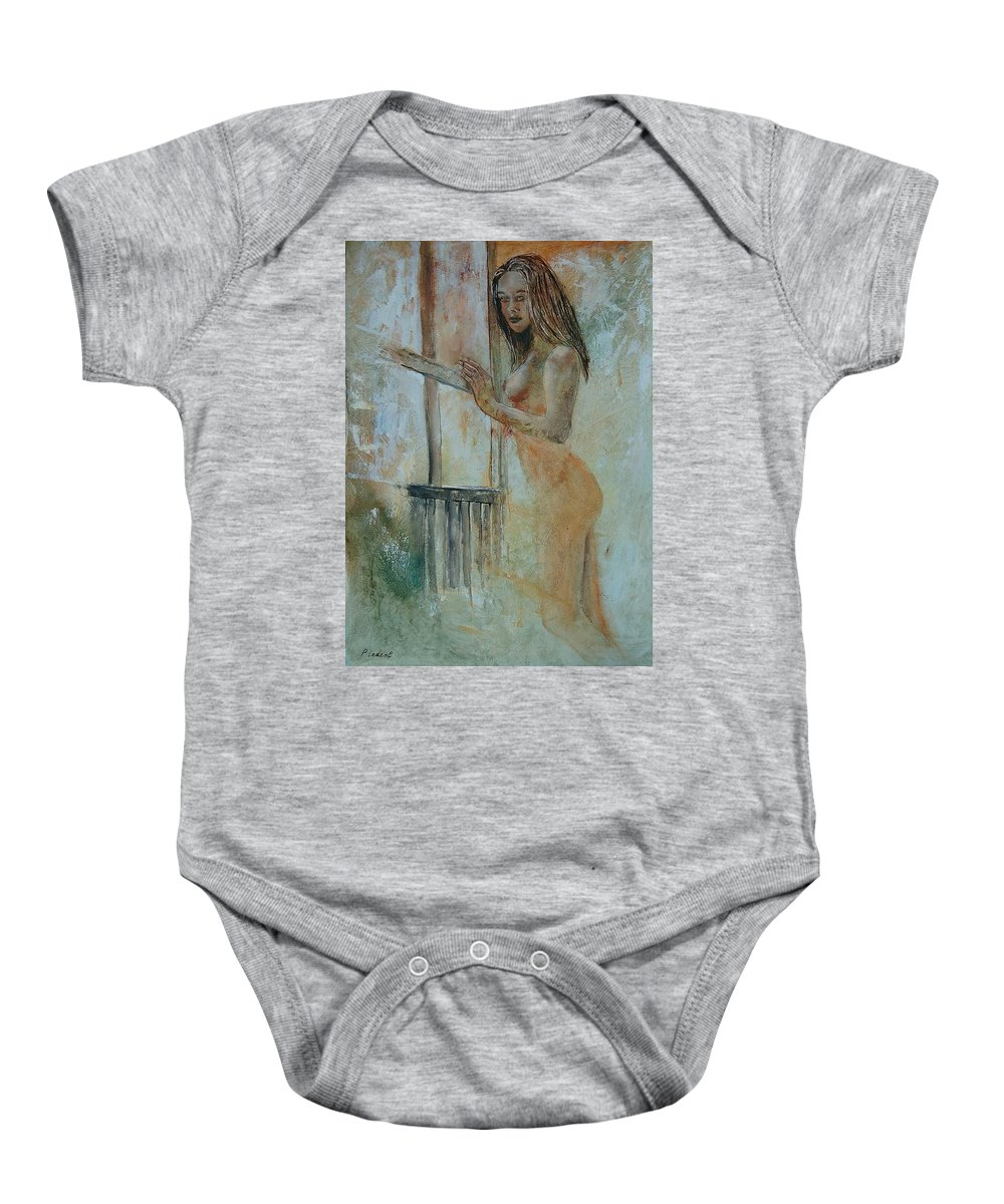 Gir Baby Onesie featuring the painting Young Girl 57905062 by Pol Ledent