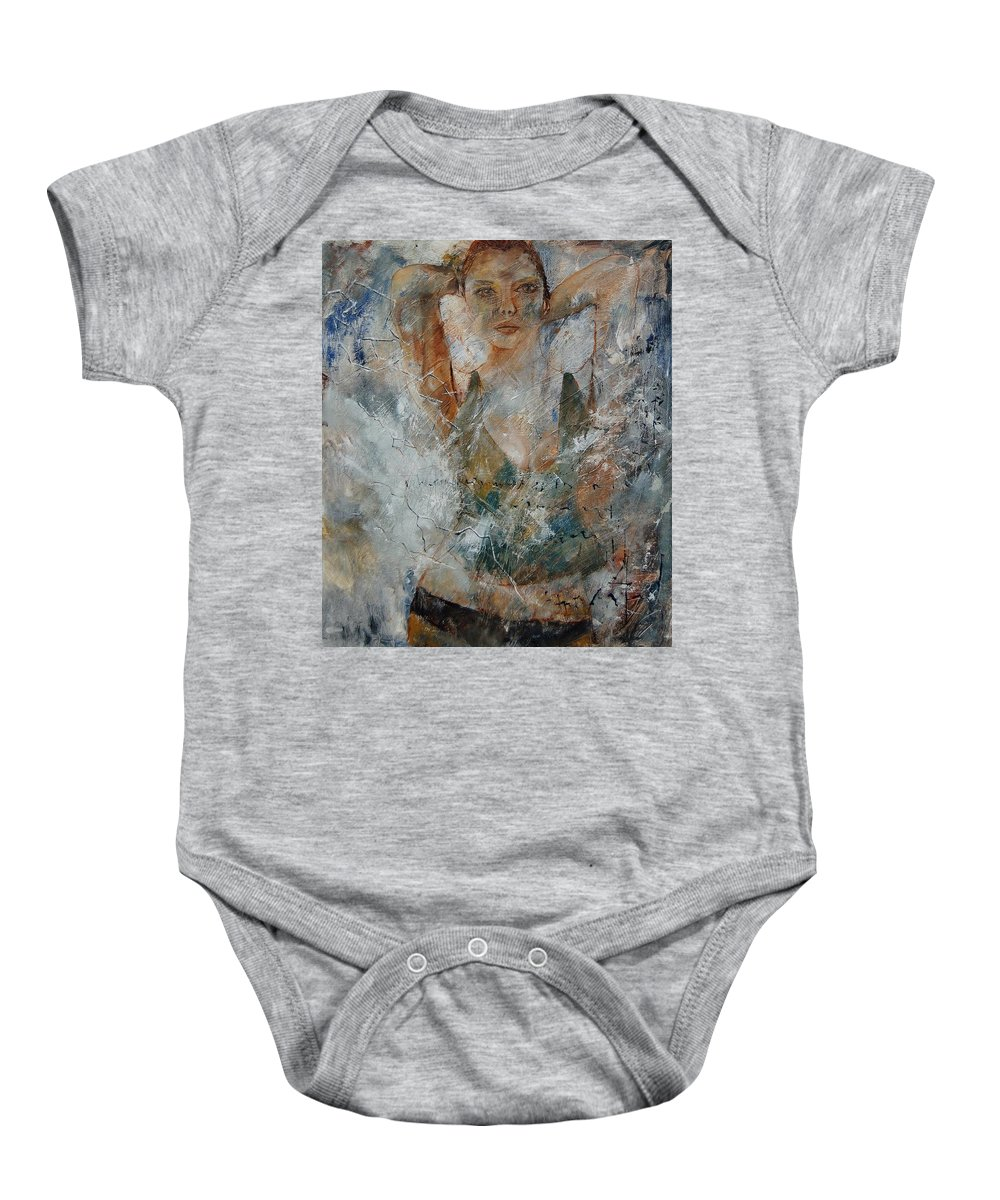 Girl Baby Onesie featuring the painting Young Girl 679080 by Pol Ledent