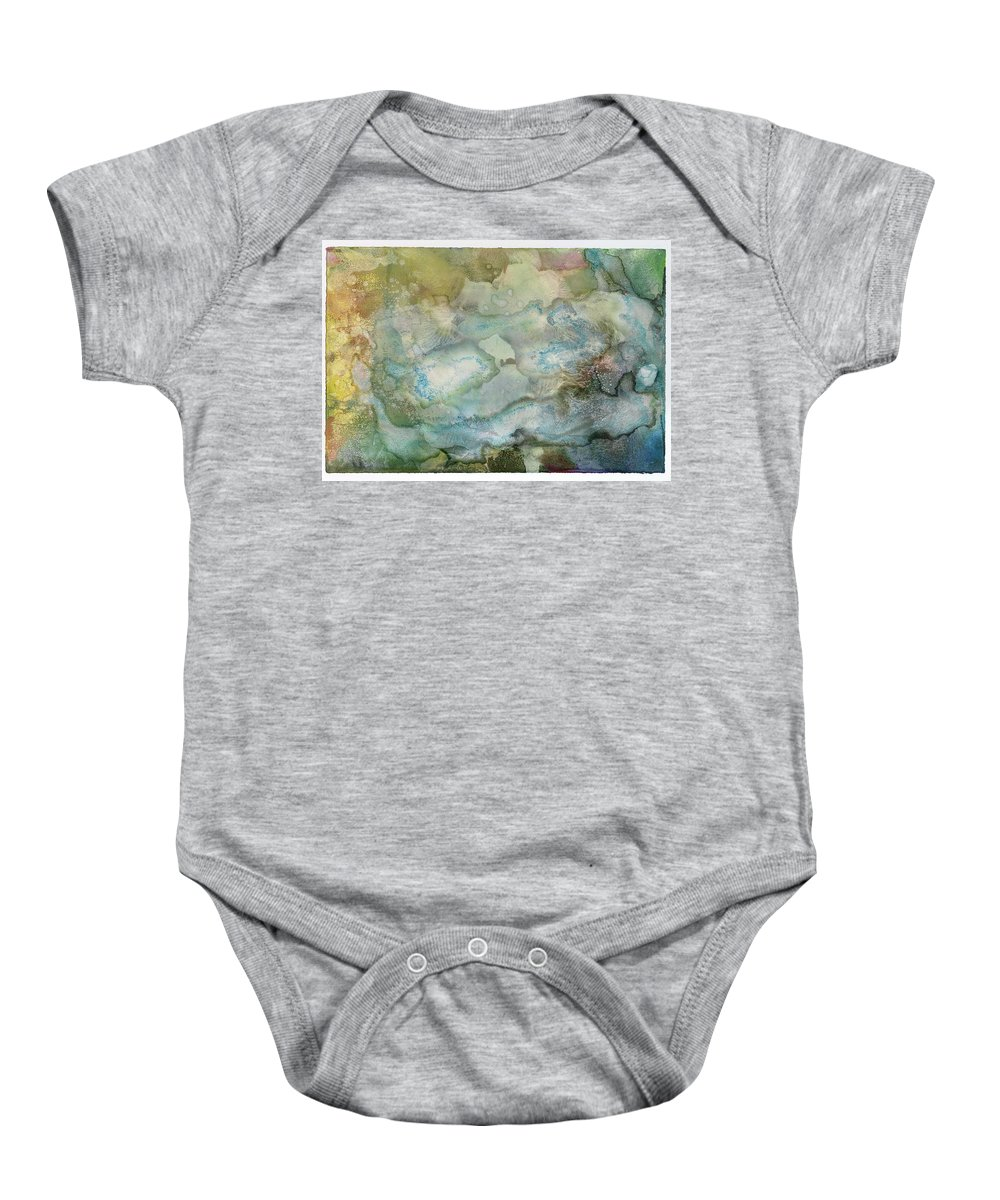 Abstract Baby Onesie featuring the painting Youniverse As An Amoeba by Sperry Andrews