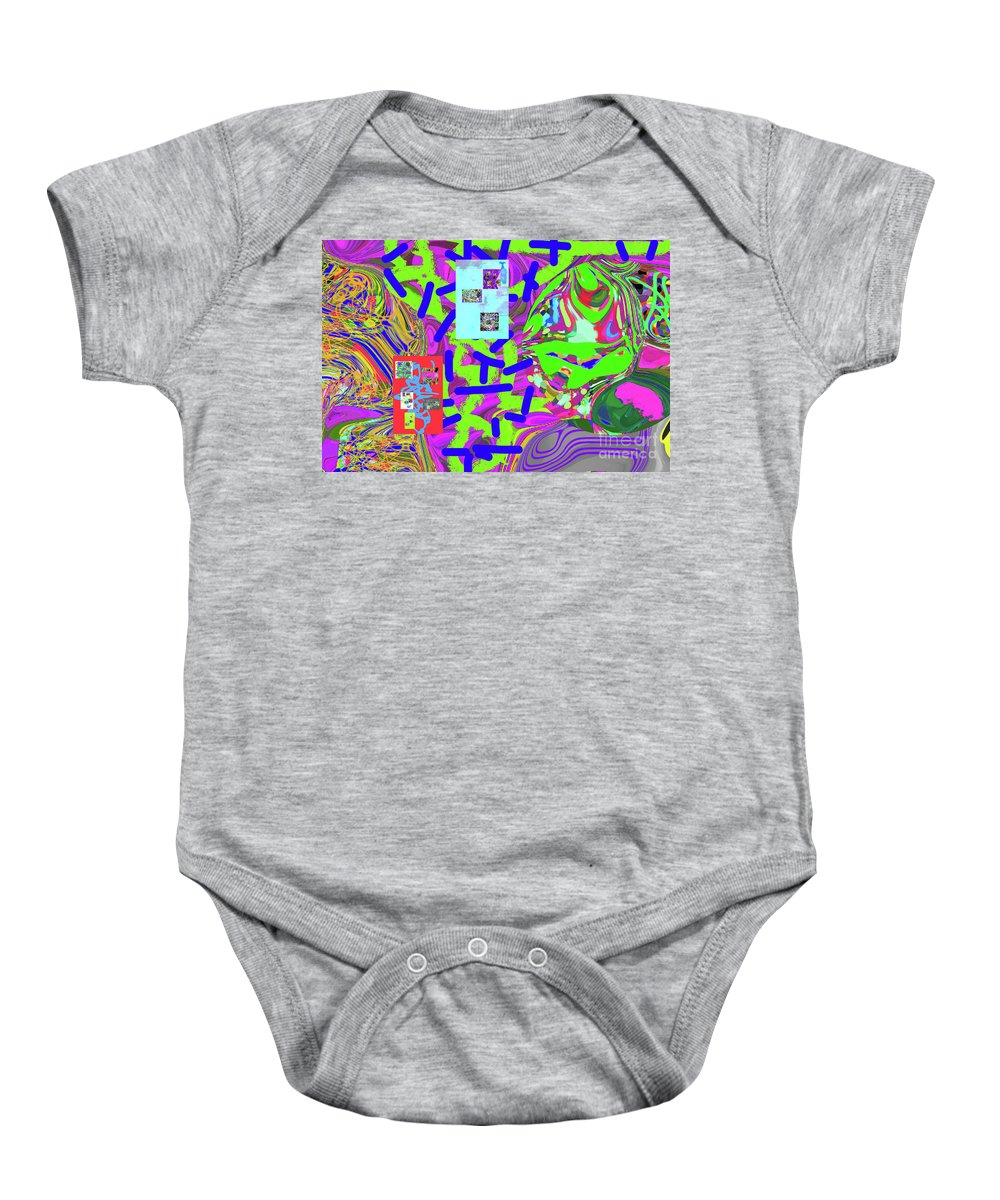 Walter Paul Bebirian Baby Onesie featuring the digital art 11-15-2015ab by Walter Paul Bebirian