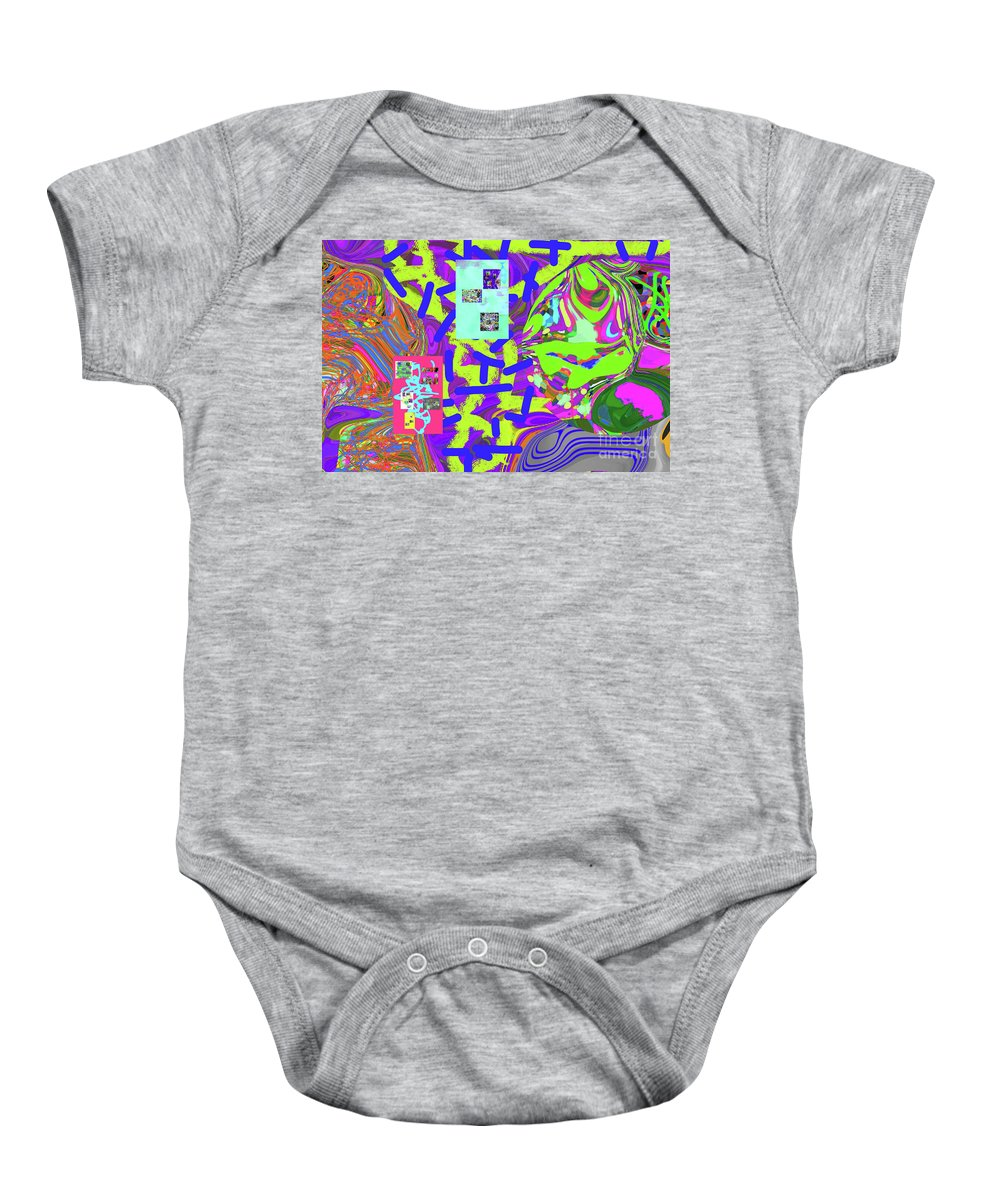 Walter Paul Bebirian Baby Onesie featuring the digital art 11-15-2015abcd by Walter Paul Bebirian