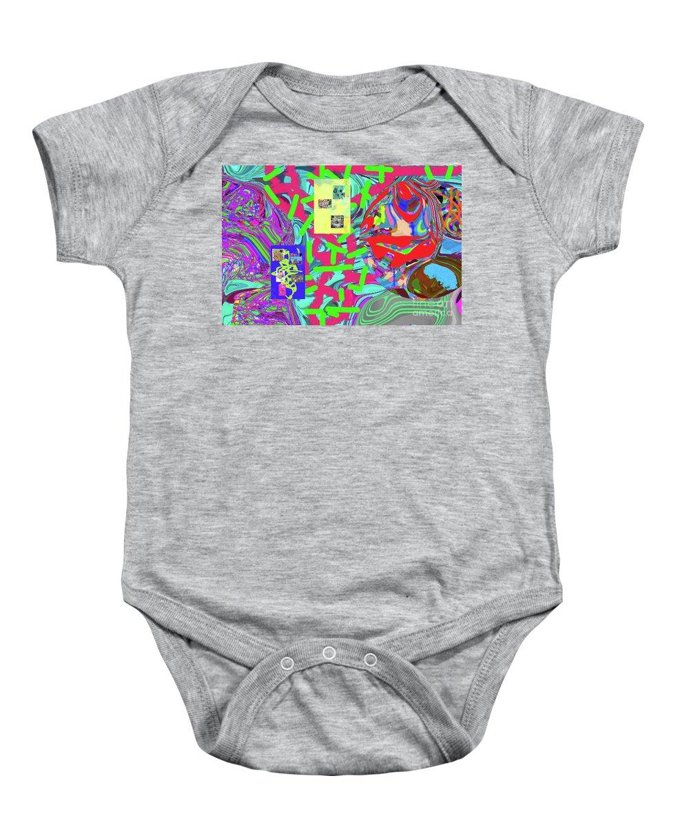 Walter Paul Bebirian Baby Onesie featuring the digital art 11-15-2015abcdefghijklmn by Walter Paul Bebirian