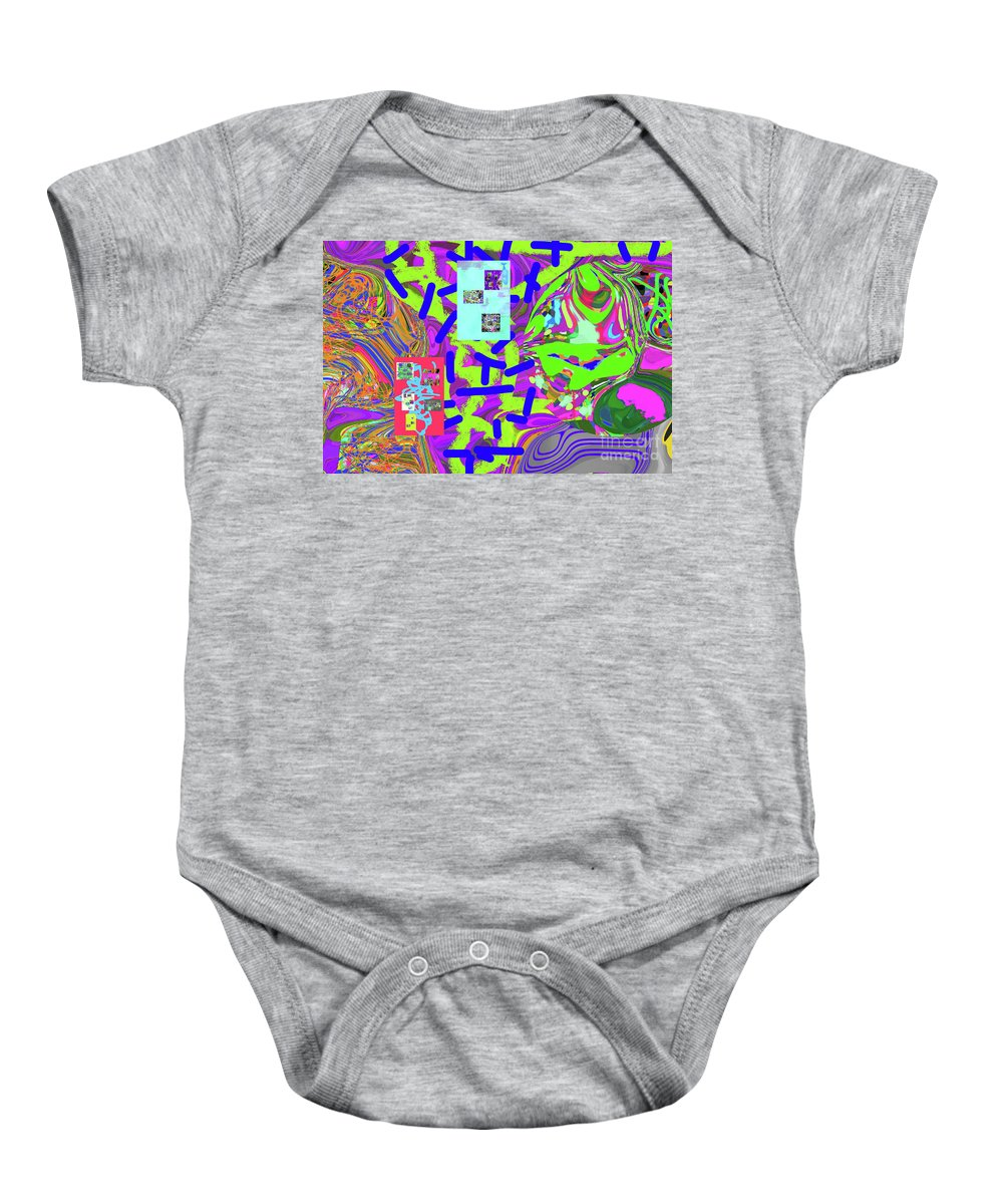Walter Paul Bebirian Baby Onesie featuring the digital art 11-15-2015abcdefghijklmnopqrtuvwxyzabc by Walter Paul Bebirian