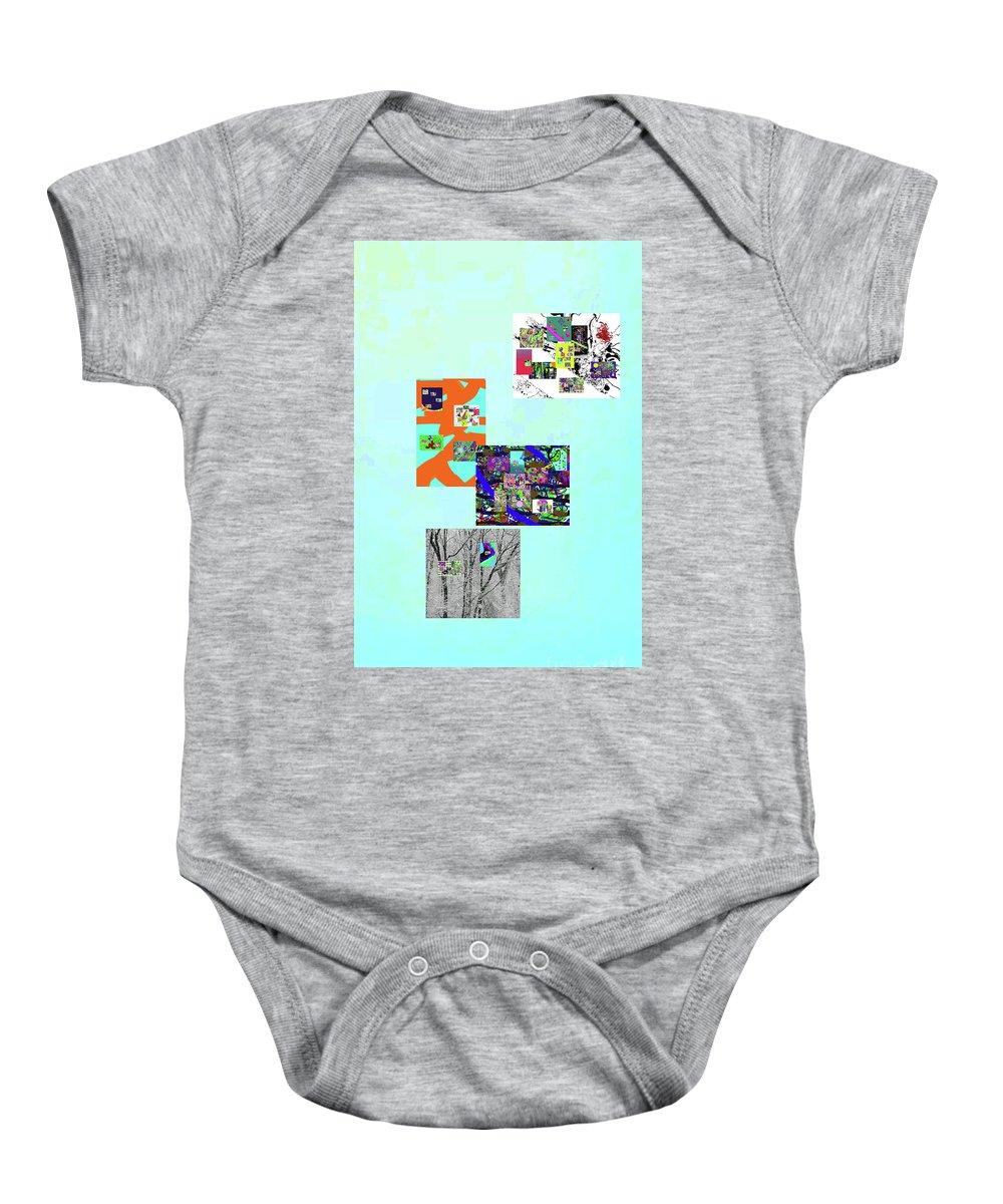 Walter Paul Bebirian Baby Onesie featuring the digital art 11-22-2015dabcdefghijklmno by Walter Paul Bebirian