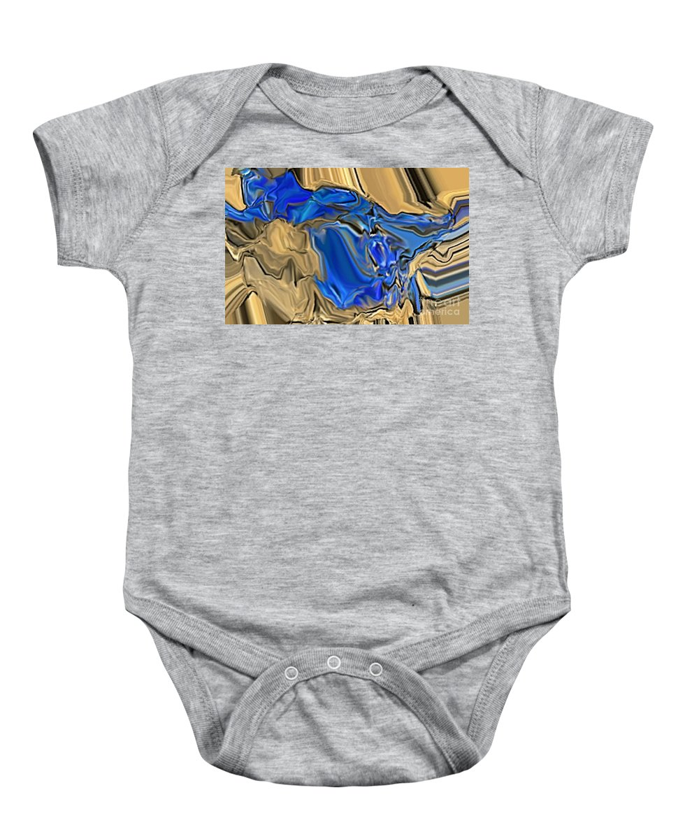 Abstract Baby Onesie featuring the digital art 1297exp6 by Ron Bissett